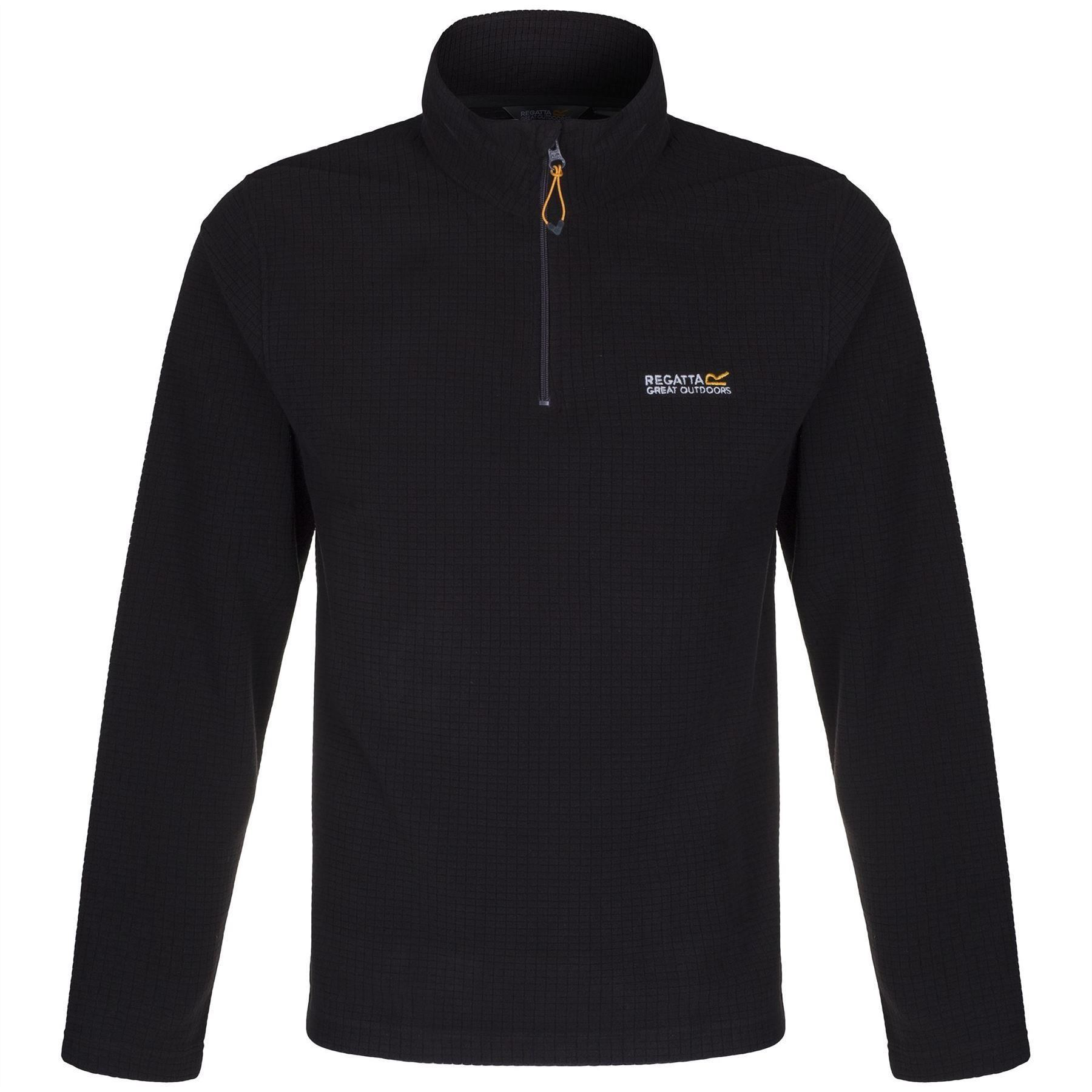Regatta-Elgon-para-hombre-Half-Zip-Fleece-Pullover-Jumper-Top-RMA236 miniatura 8