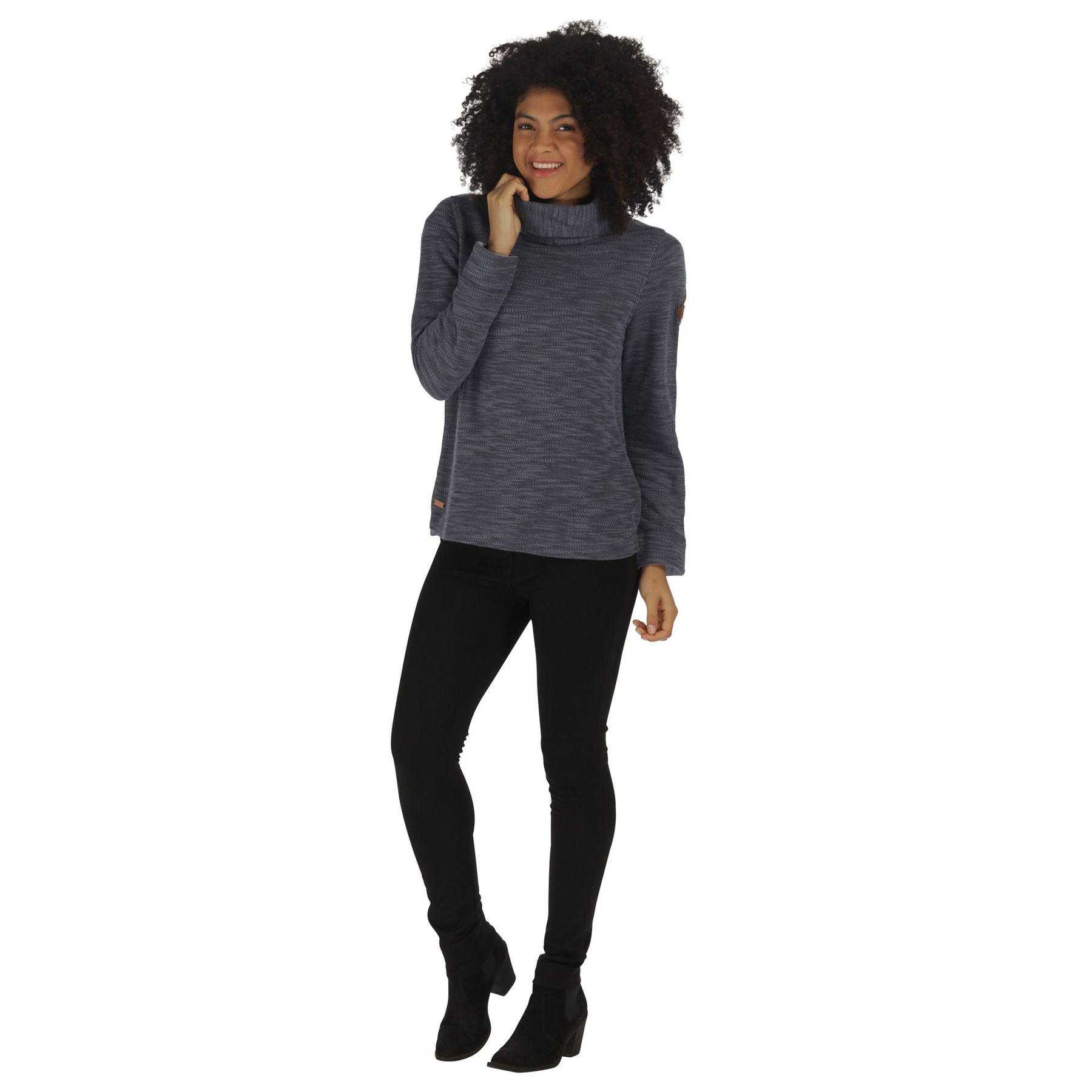 Regatta-Ceanna-Cowl-Neck-Soft-Fleece-Pull-Over-Jumper-Sweater-Top-RWA276 thumbnail 4