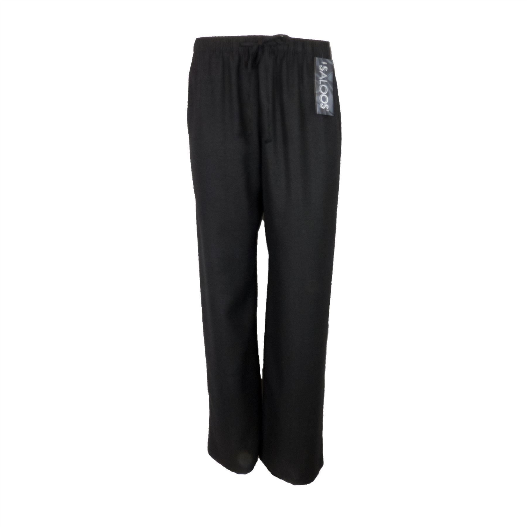 Saloos Linen Look Trouser Casual or Eveningwear Elasticated Waist