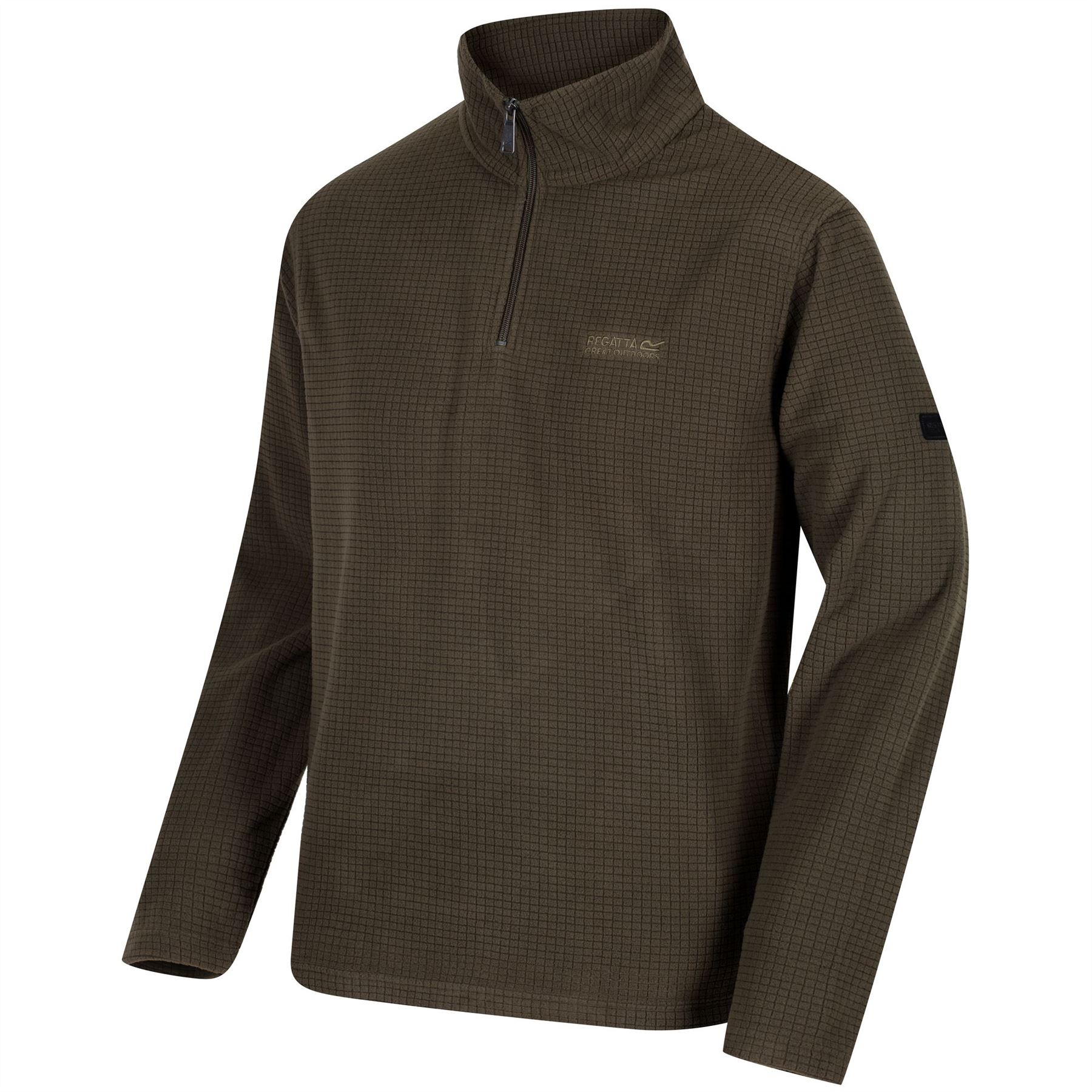 Regatta-Elgon-para-hombre-Half-Zip-Fleece-Pullover-Jumper-Top-RMA236 miniatura 15
