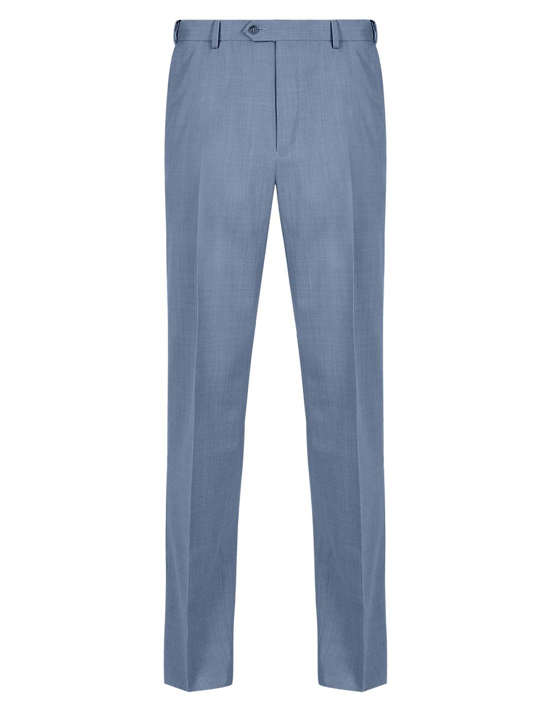 EX-M-amp-S-Marks-And-Spencer-Ultimate-Perfomance-Flat-Front-Trousers-With-Wool thumbnail 5