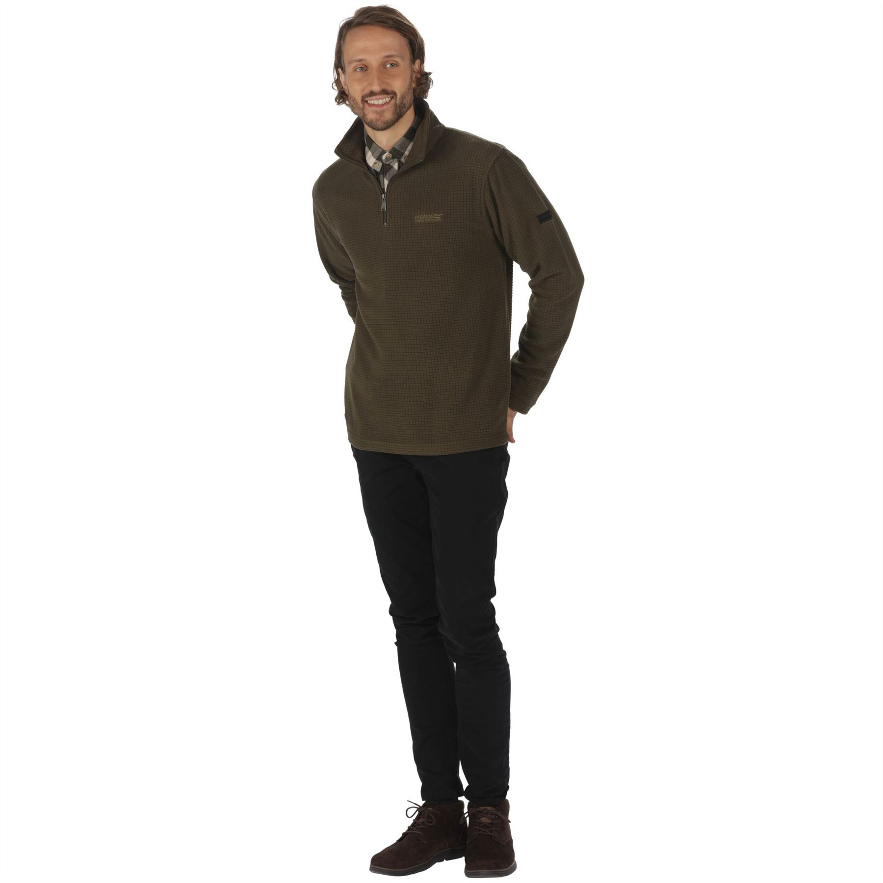 Regatta-Elgon-para-hombre-Half-Zip-Fleece-Pullover-Jumper-Top-RMA236 miniatura 14