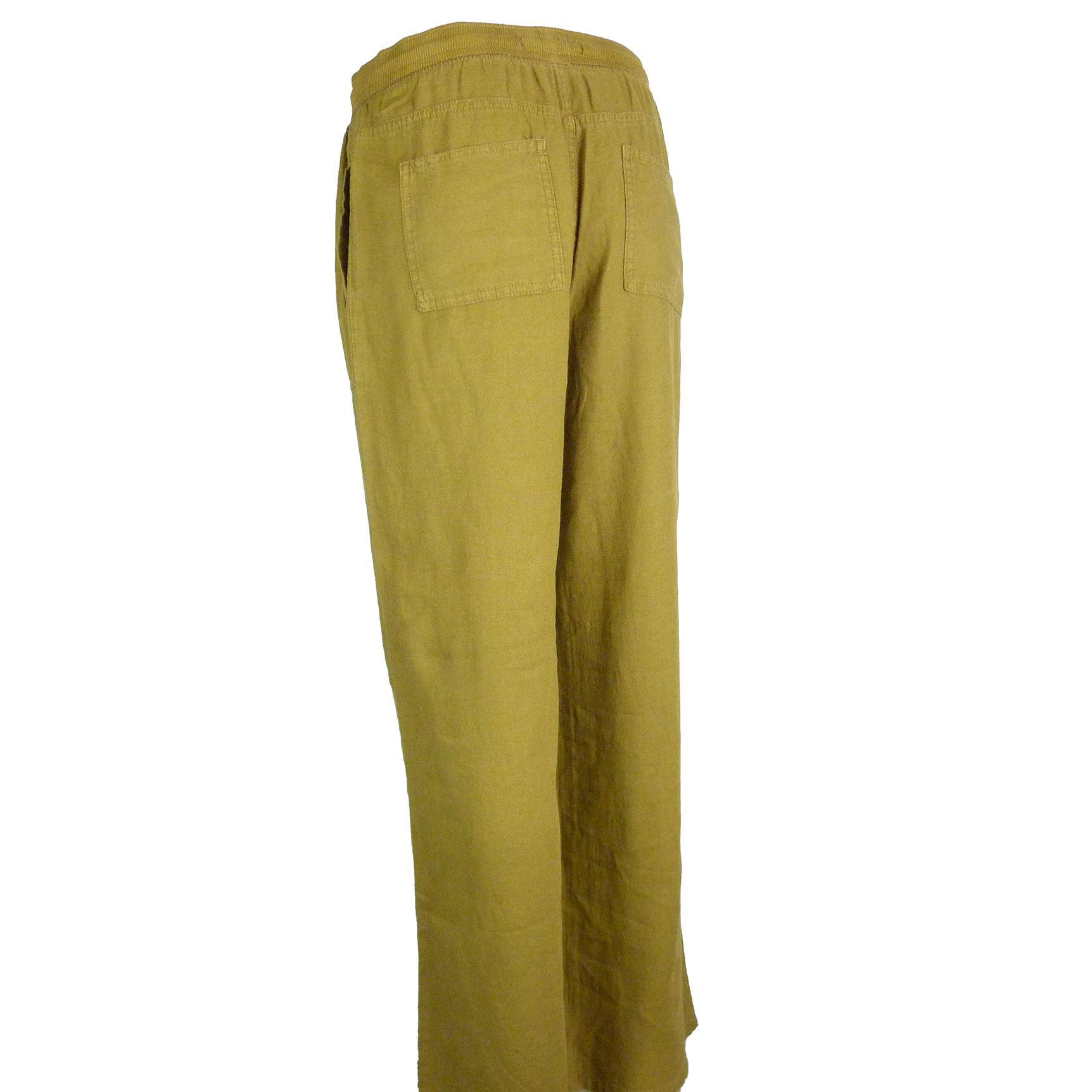 thumbnail 6 - Ex-M-amp-S-Linen-Rich-Beach-Wide-Leg-Trousers