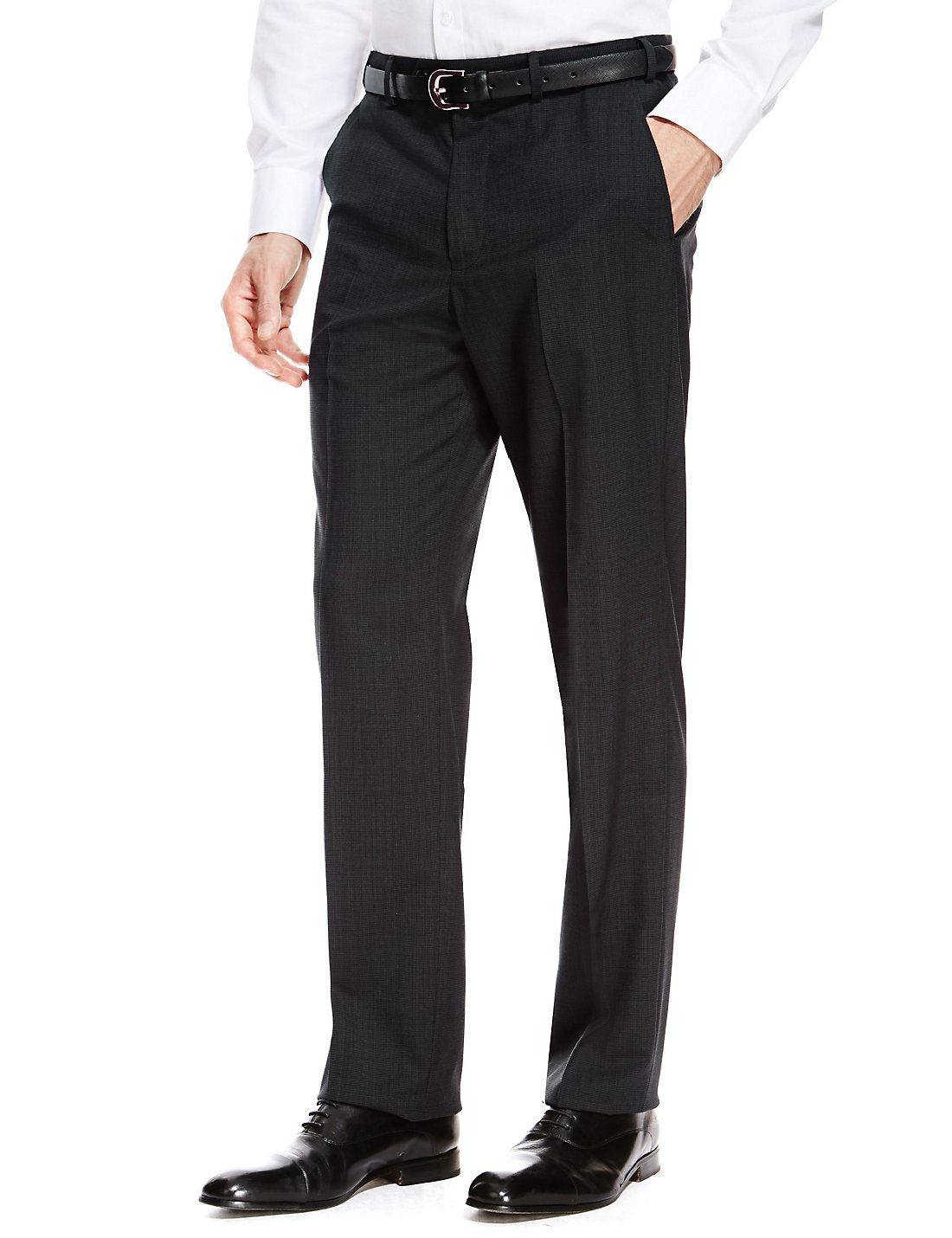 EX-M-amp-S-Marks-And-Spencer-Ultimate-Perfomance-Flat-Front-Mens-Trousers-With-Wool thumbnail 5
