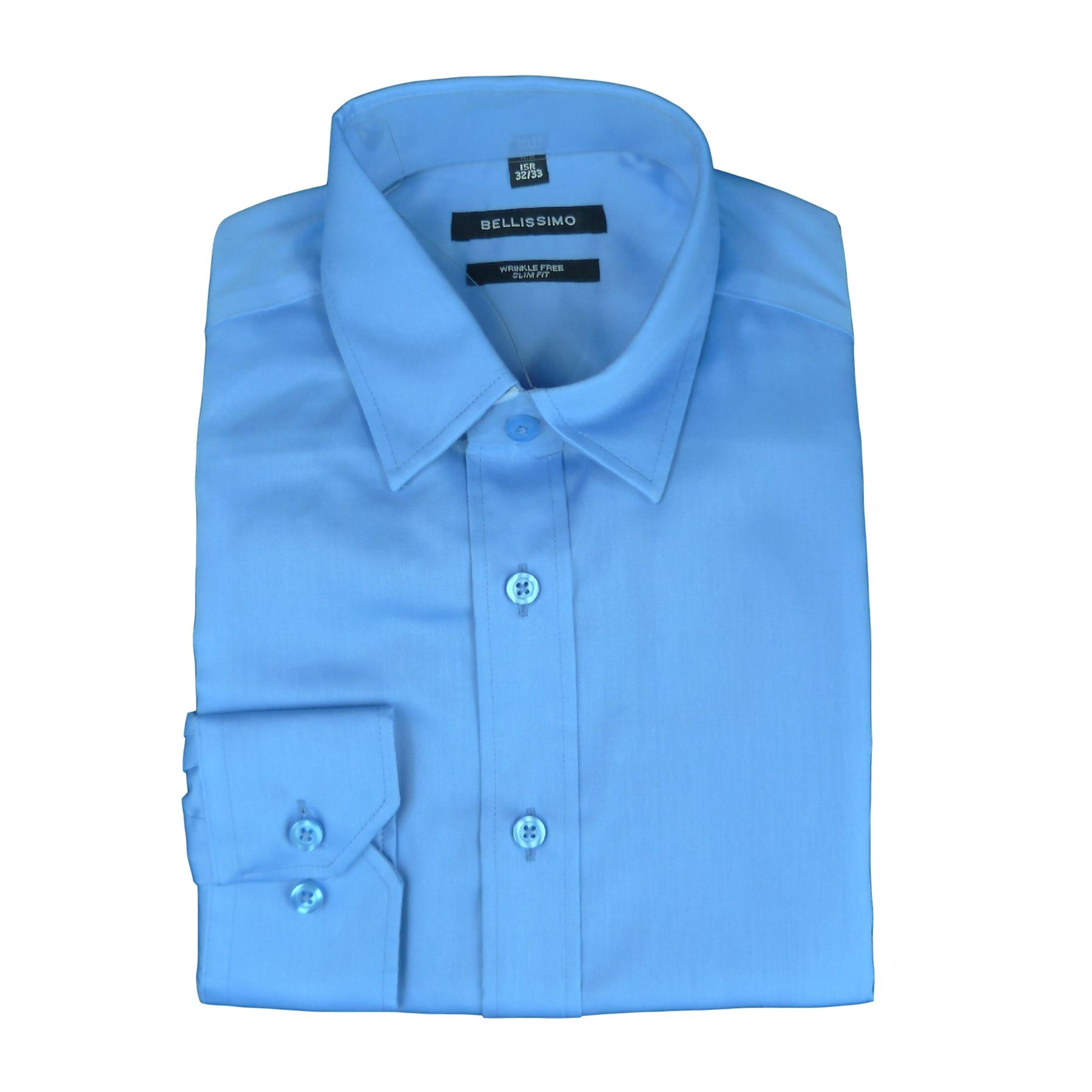 Bellissimo luxury slim fit wrinkle free cotton rich shirts for Wrinkle free dress shirts amazon