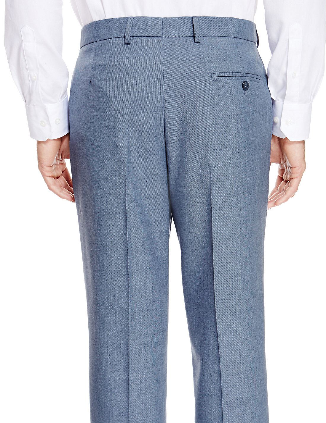 EX-M-amp-S-Marks-And-Spencer-Ultimate-Perfomance-Flat-Front-Trousers-With-Wool thumbnail 6