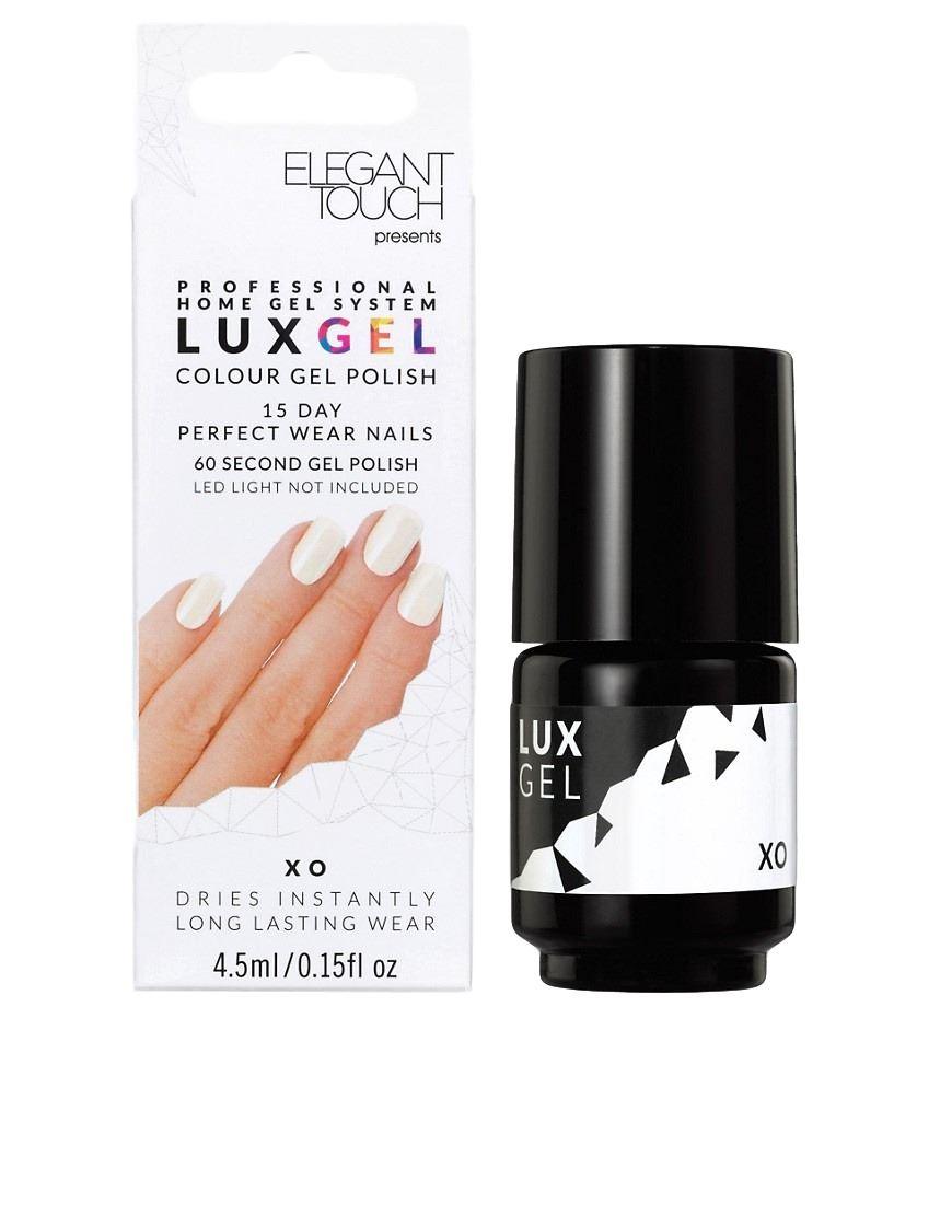 Elegant Touch Lux Gel 15 Day Perfect Wear Nail Polish - XO (White ...