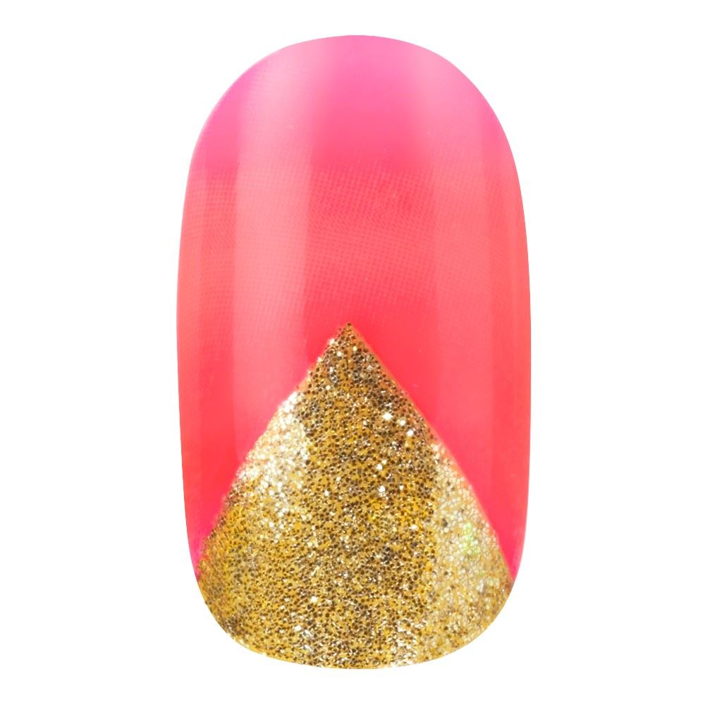Elegant-Touch-False-Nails-Abstract-Marble-Pink-amp-Gold-Short-Length-24-Nails Indexbild 4