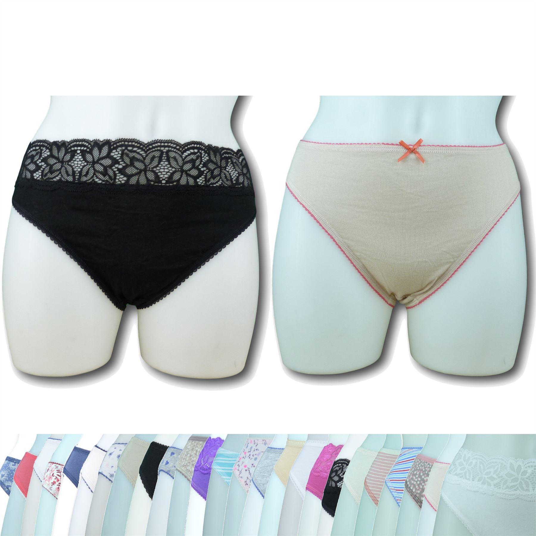 EX M/&S 5Pk Cotton Slip Bikini Slip più scelte Colour