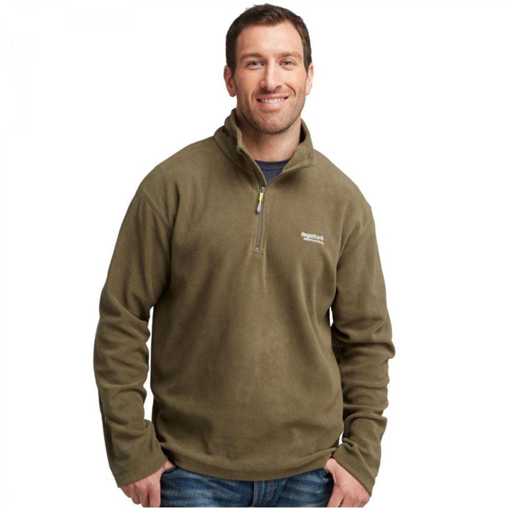 regatta thompson mens half zip fleece top jacket pullover rma021 ebay. Black Bedroom Furniture Sets. Home Design Ideas