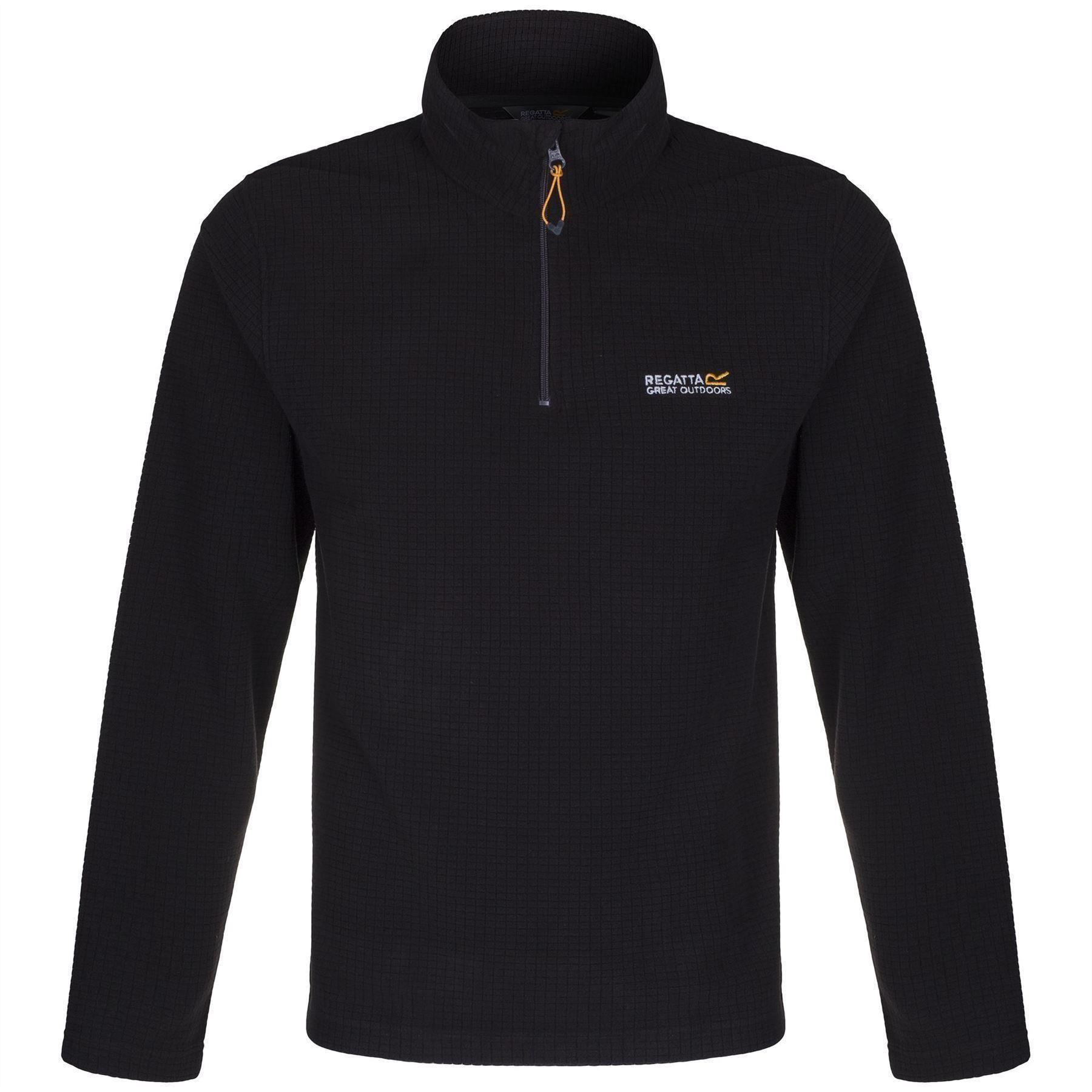 Regatta-Elgon-para-hombre-Half-Zip-Fleece-Pullover-Jumper-Top-RMA236 miniatura 5