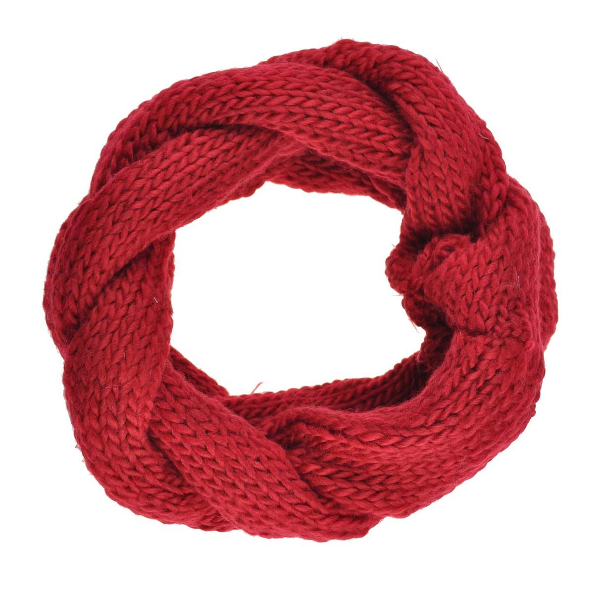 chunky plait knitted scarf infinity snood autumn