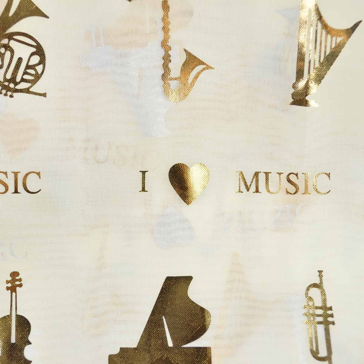 Scarf Group Choir Unisex Gold Foil Musical note Music instrument Wrap