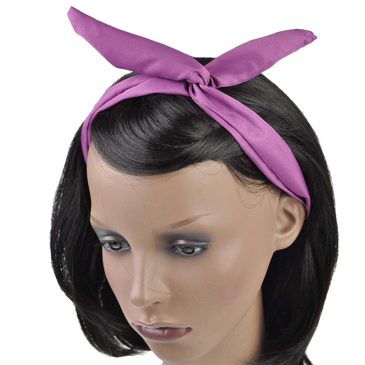 Women Plain Wire Headband Retro Band Wrap Hair Bendy Head