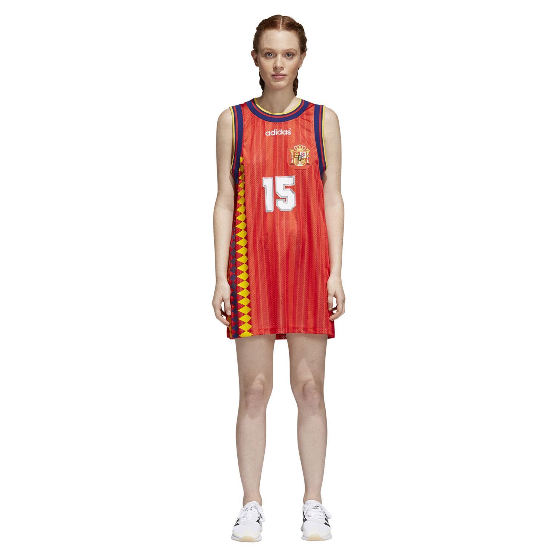 adidas ORIGINALS WOMEN'S SPAIN RETRO TANK DRESS TOP WORLD CUP TEE ...