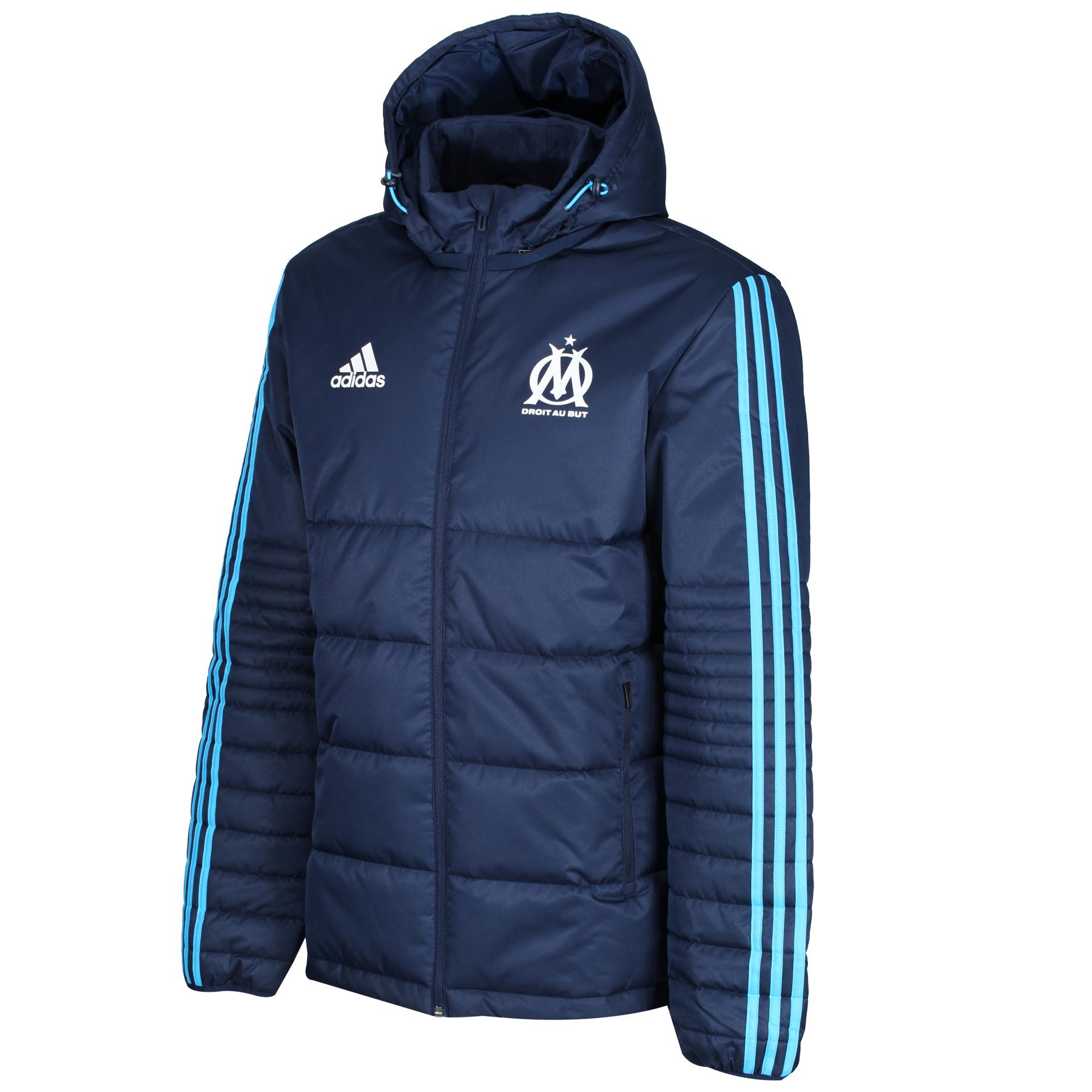 Details about adidas MEN'S OLYMPIQUE MARSEILLE PADDED JACKET COAT WARM COMFY FOOTBALL LIGUE 1