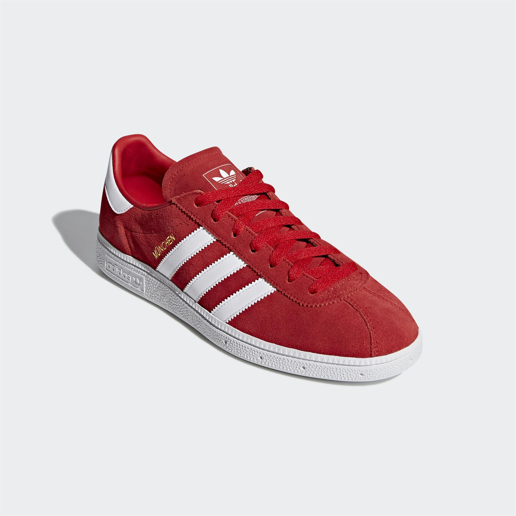 adidas ORIGINALS MUNCHEN TRAINERS RED SHOES SNEAKERS RETRO CITY ...