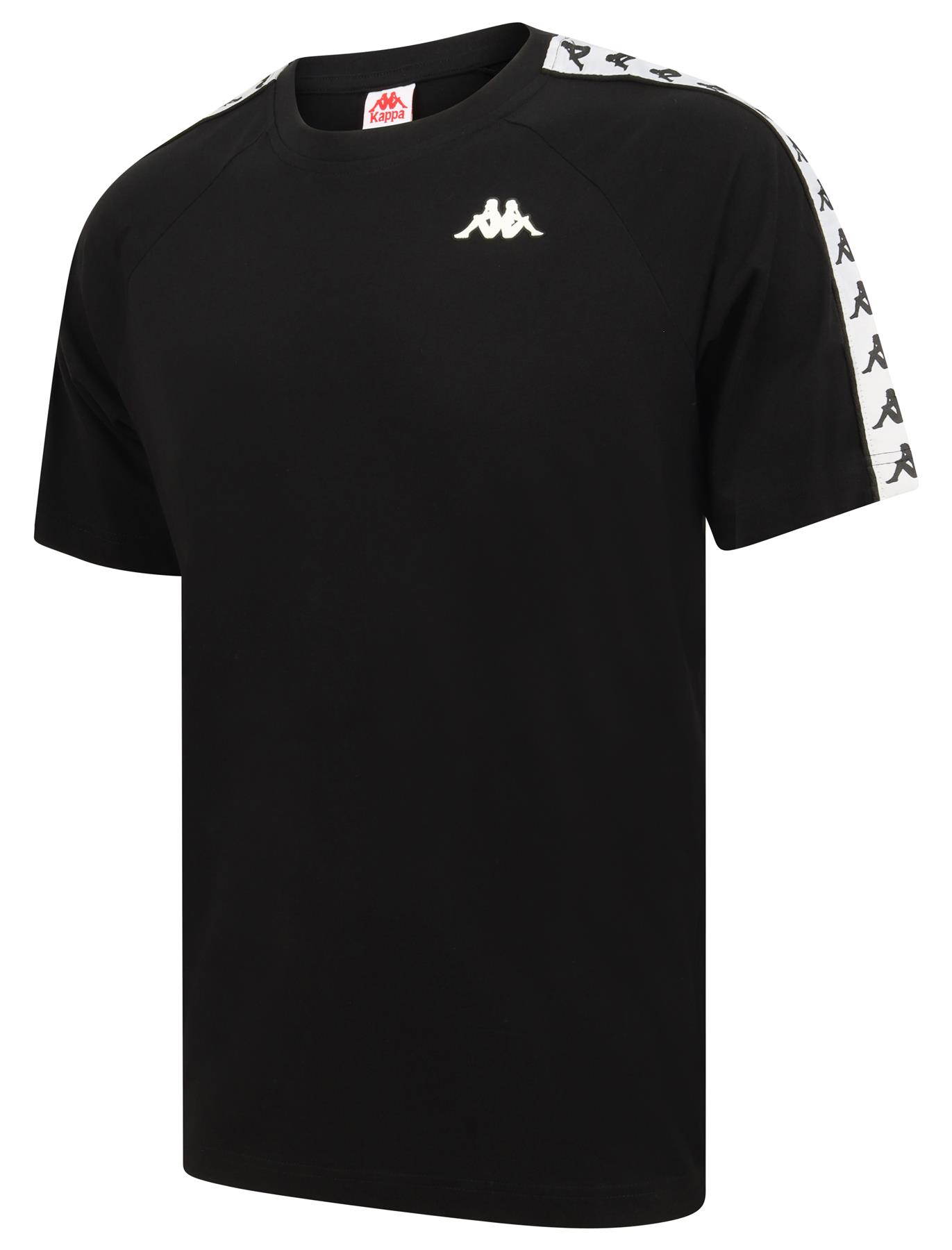 2 Pieces Pack KAPPA Men/'s T-Shirts Round and V Neck Black//White