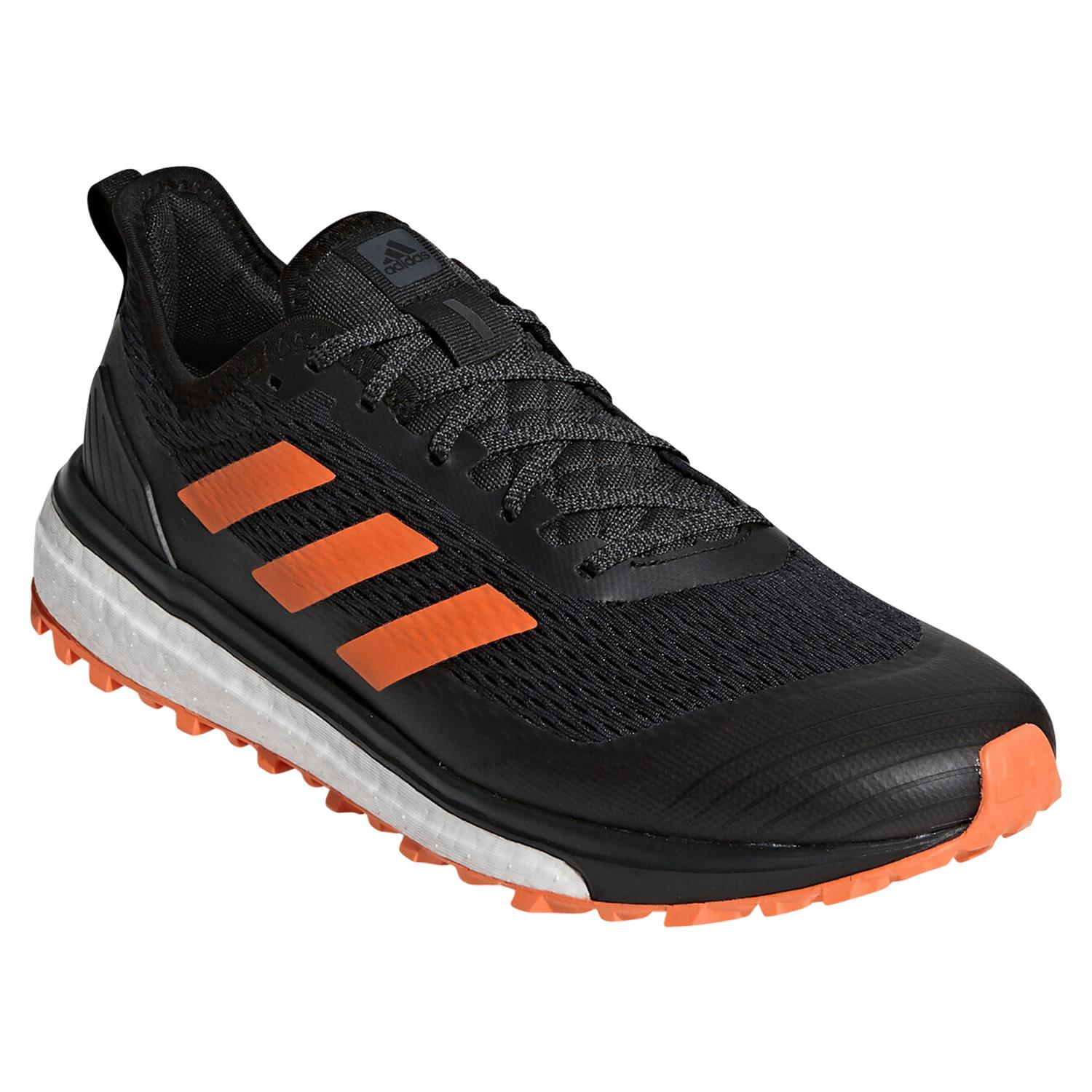 adidas RESPONSE TRAIL SHOES BLACK ORANGE RUNNING TRAINERS SNEAKERS ...