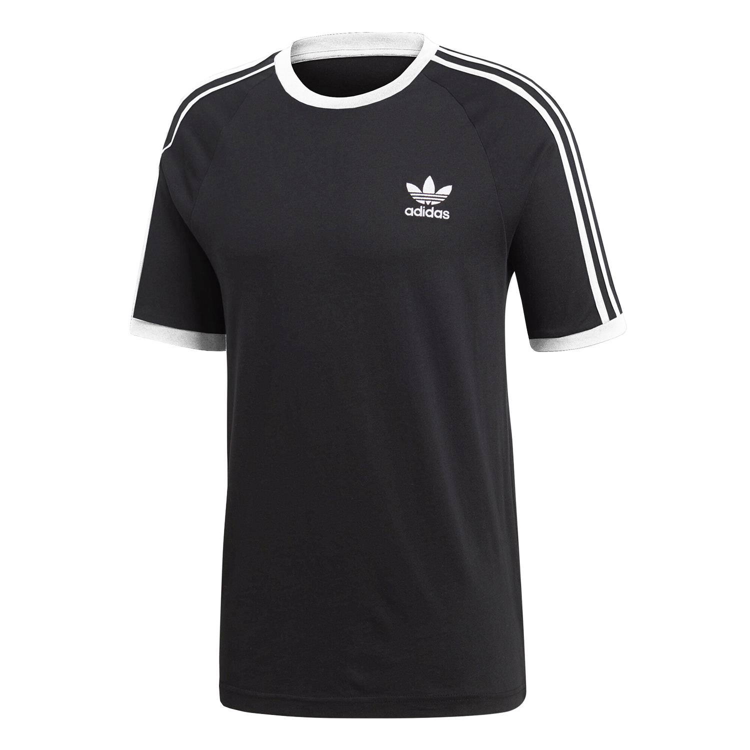 Adidas Originals Classic 3-Stripes Crew Neck Short Sleeve Cotton T-Shirt