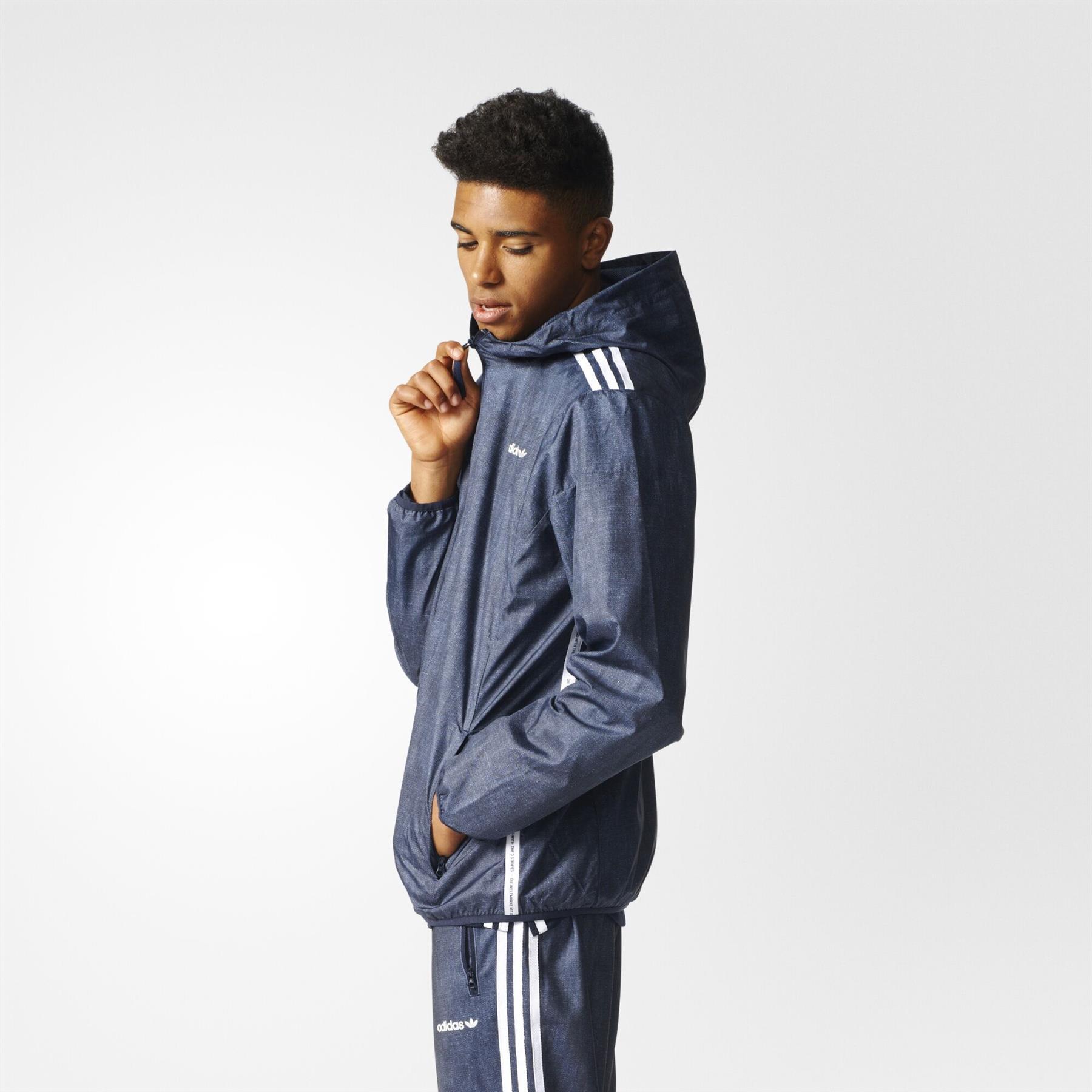 Détails sur Adidas Originaux Colorado Coupe Vent CLR84 Veste Jeans Bleu Trèfle Capuche Neuf