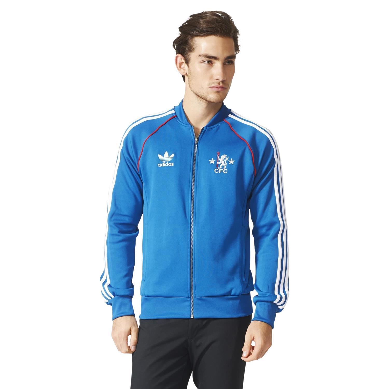 Details about adidas ORIGINALS MEN'S CHELSEA FC SUPERSTAR TRACK JACKET TOP BLUE CFC RETRO NEW