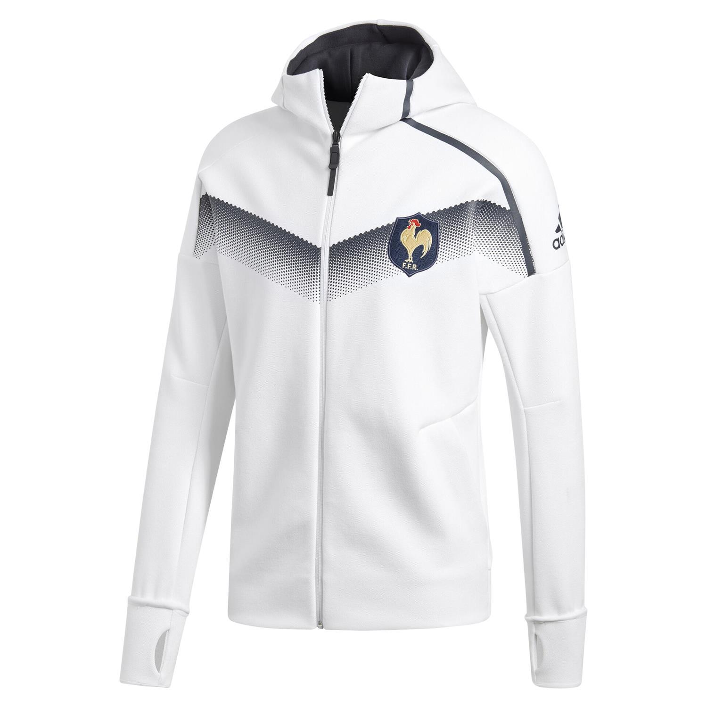 Dettagli su Adidas UOMO Ffr Cappuccio Inno Giacca Bianco Caldo Comodo Rugby Union Nuovo