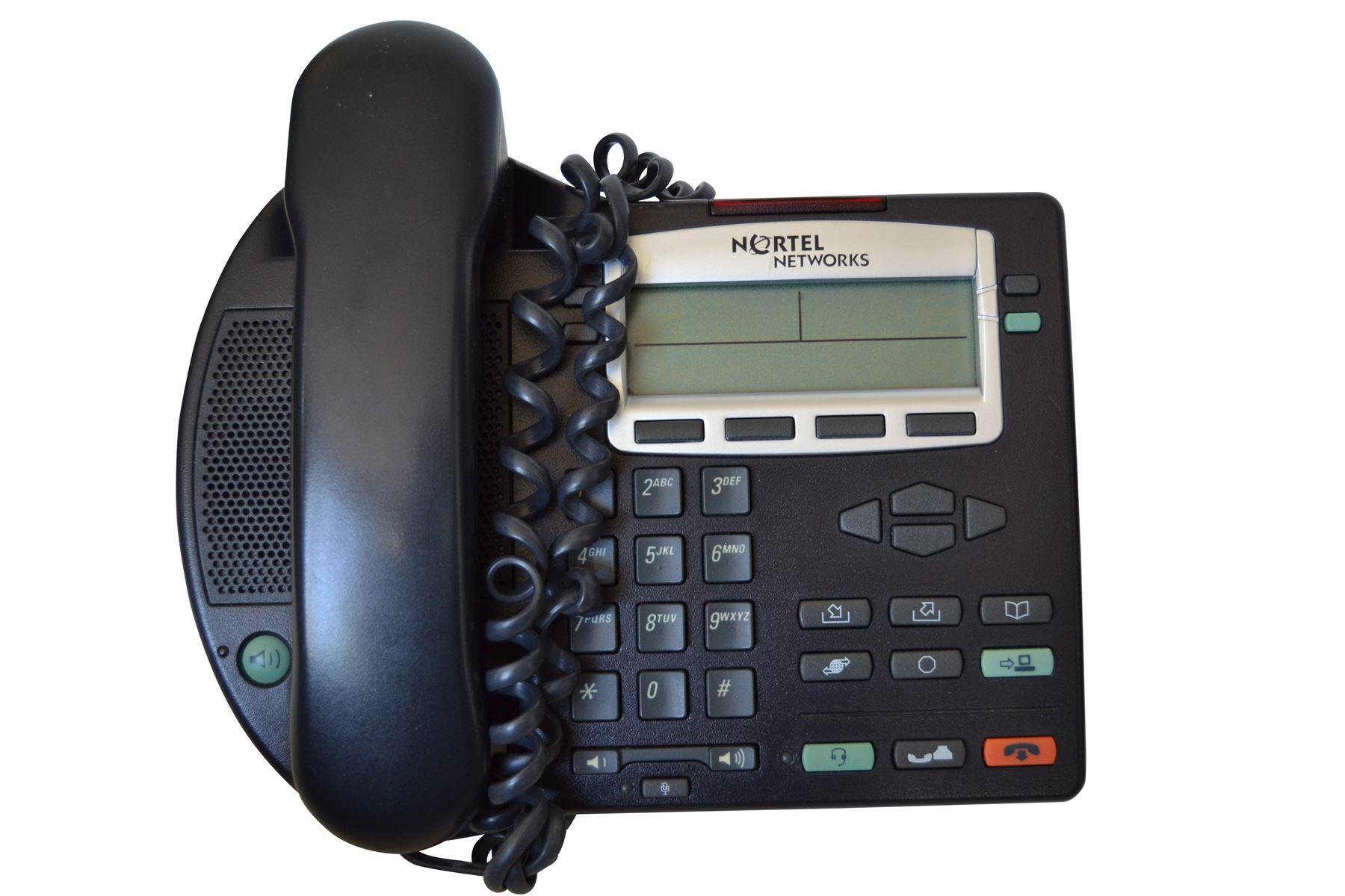 Nortel i2001 IP Phone in Black NTDU90 1 Year Warranty