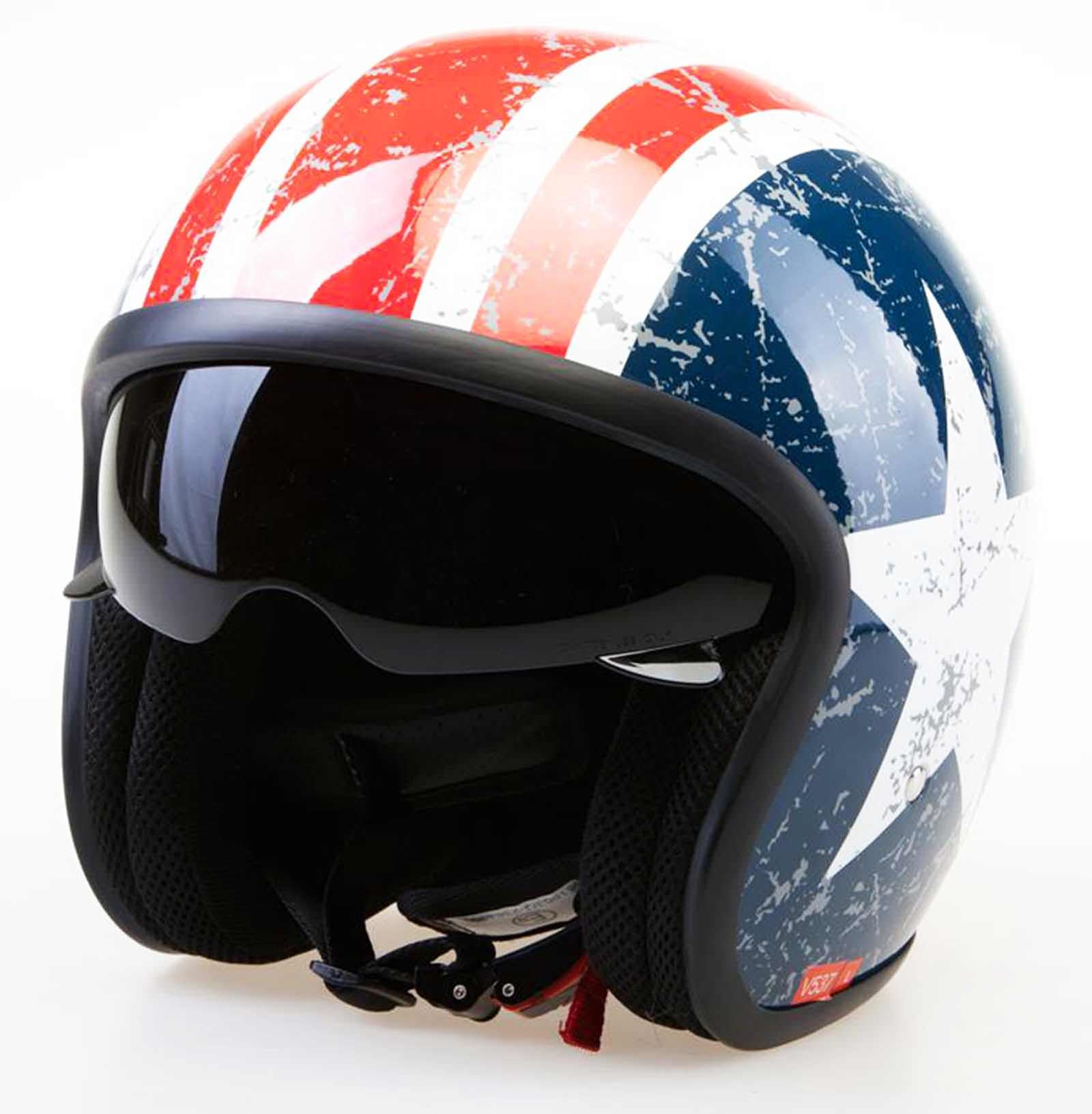 Viper-RSV06-Motorbike-Motorcycle-Open-Face-Jet-Touring-Helmet-Seatbelt-Fastener