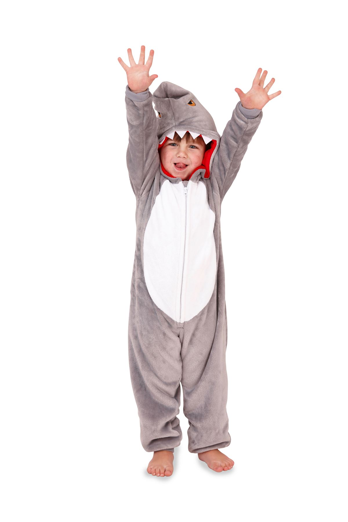 Matching-Mens-Boys-3D-Hooded-Shark-All-In-One-Slippers-Dad-amp-Son-Loungewear