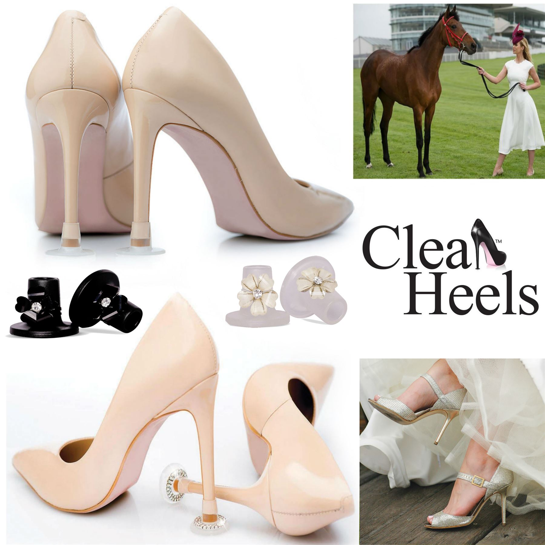 High heel Protectors-Bridal Shoes FREE P/&P Clean Heels HEEL SLEEVES Pack of 3