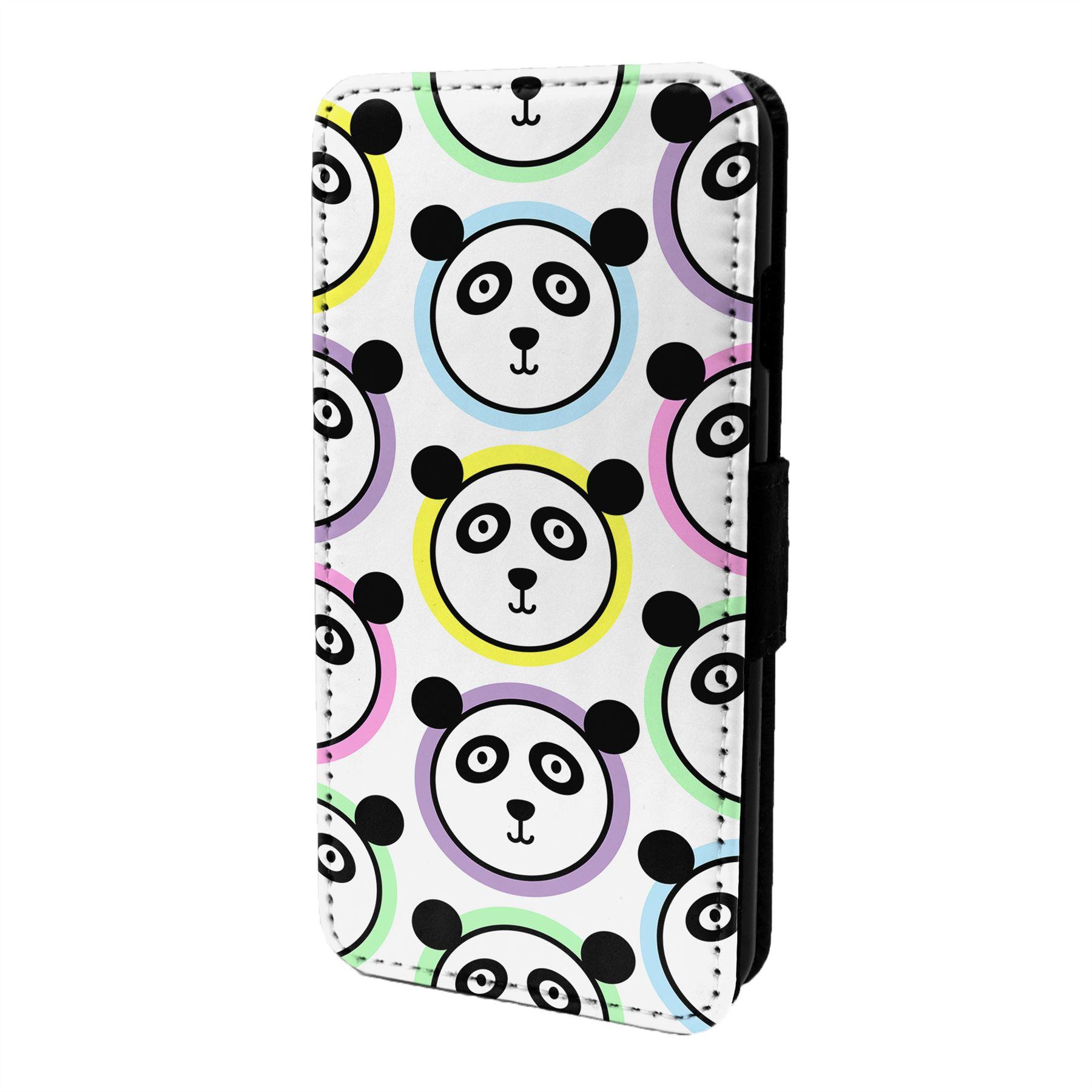 Panda-Motif-Etui-Rabattable-pour-Telephone-Portable-S7009