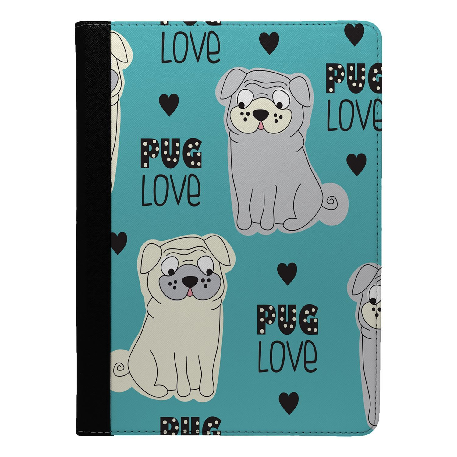 Dogs-Pugs-Love-Blue-Flip-Case-Cover-For-Apple-iPad-S949