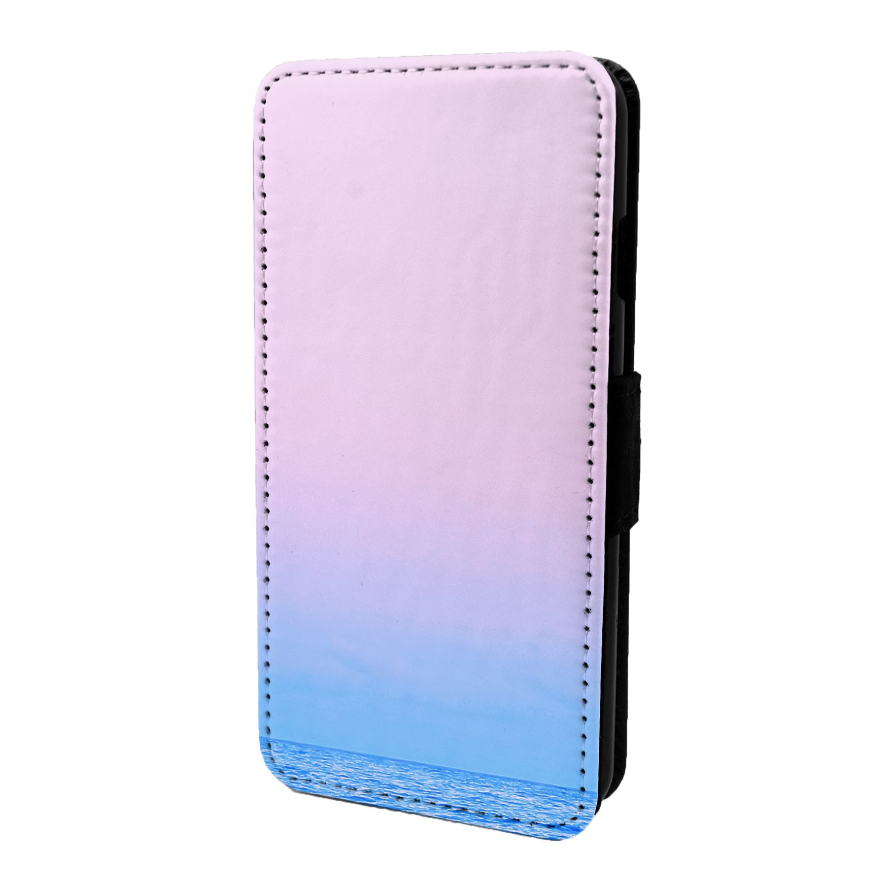 Pastel-Minimal-Mer-Imprime-Etui-Rabattable-pour-Telephone-Portable-S7028