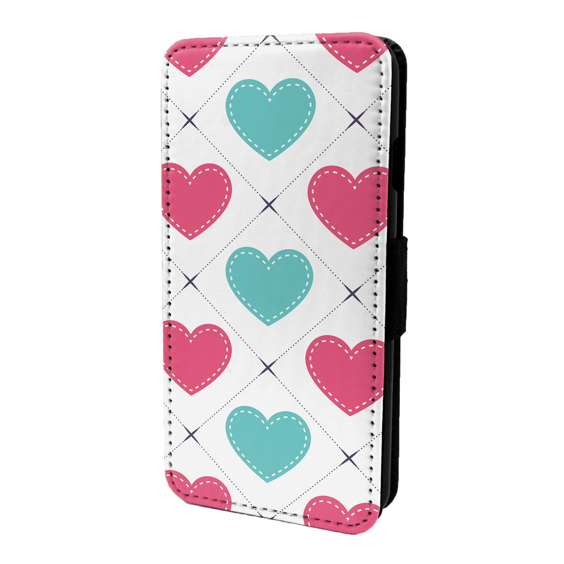 Coeur-D-039-Amour-Motif-Etui-Rabattable-pour-Telephone-Portable-S6840