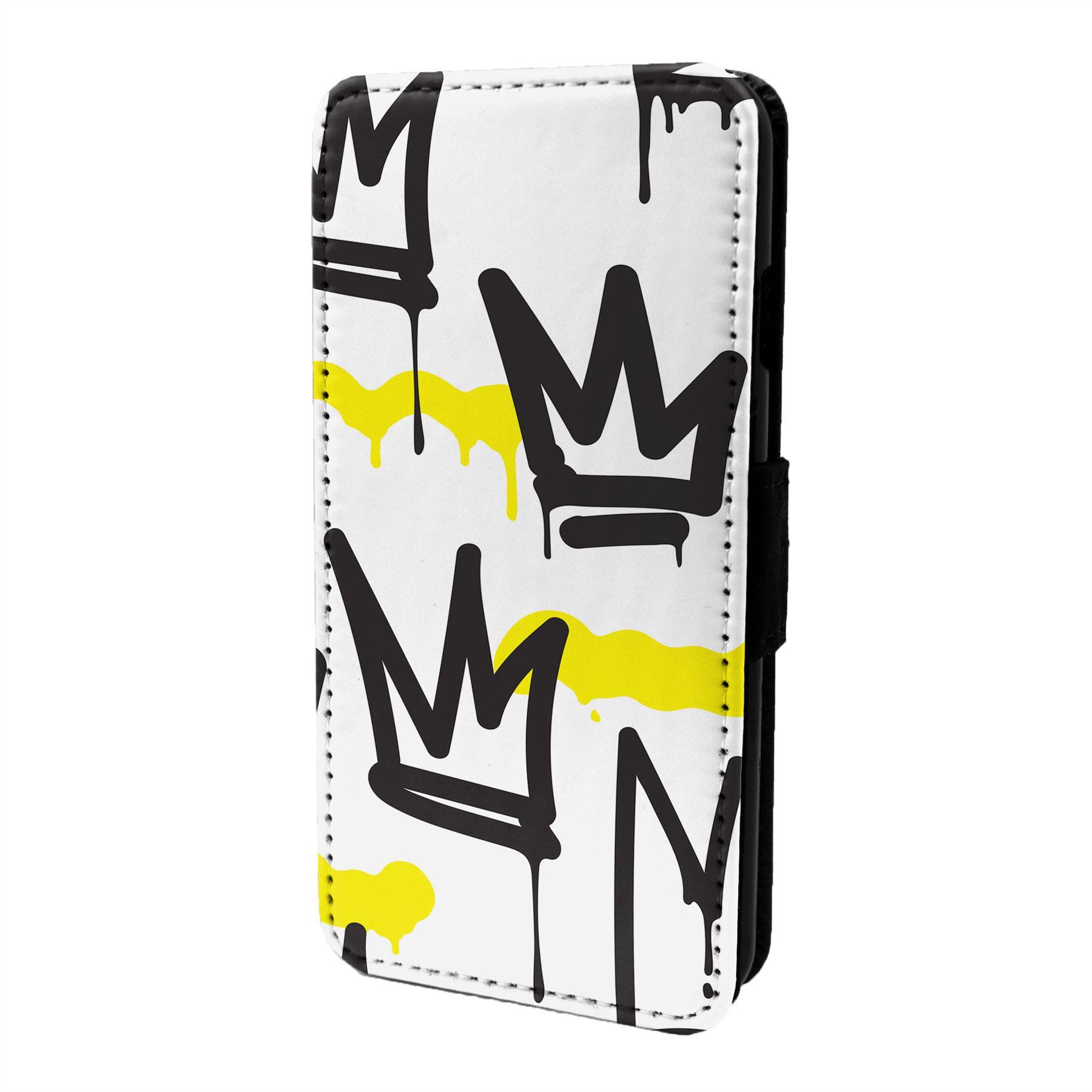 Graffiti-Art-Etui-Rabattable-pour-Telephone-Portable-S6777