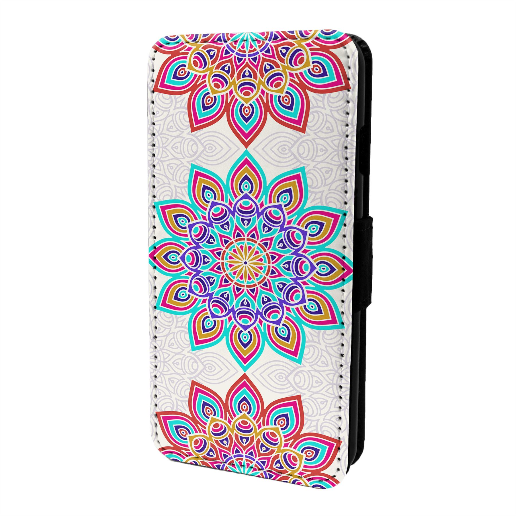 Mandala-Marroqui-Estampado-Funda-Libro-para-Telefono-Movil-S6897