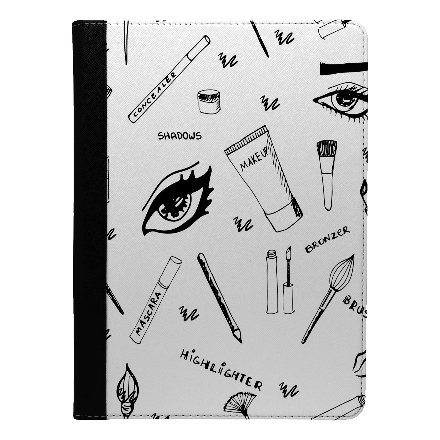 Make-Up-Girl-Pattern-Flip-Case-Cover-For-Apple-iPad-S9036