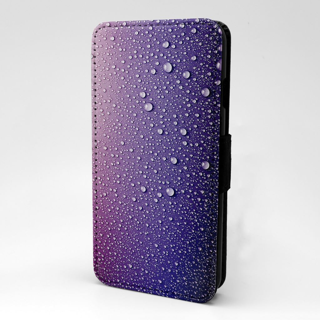 Pink-Purple-Droplets-Flip-Case-Cover-For-Phone-S-T2756 thumbnail 12