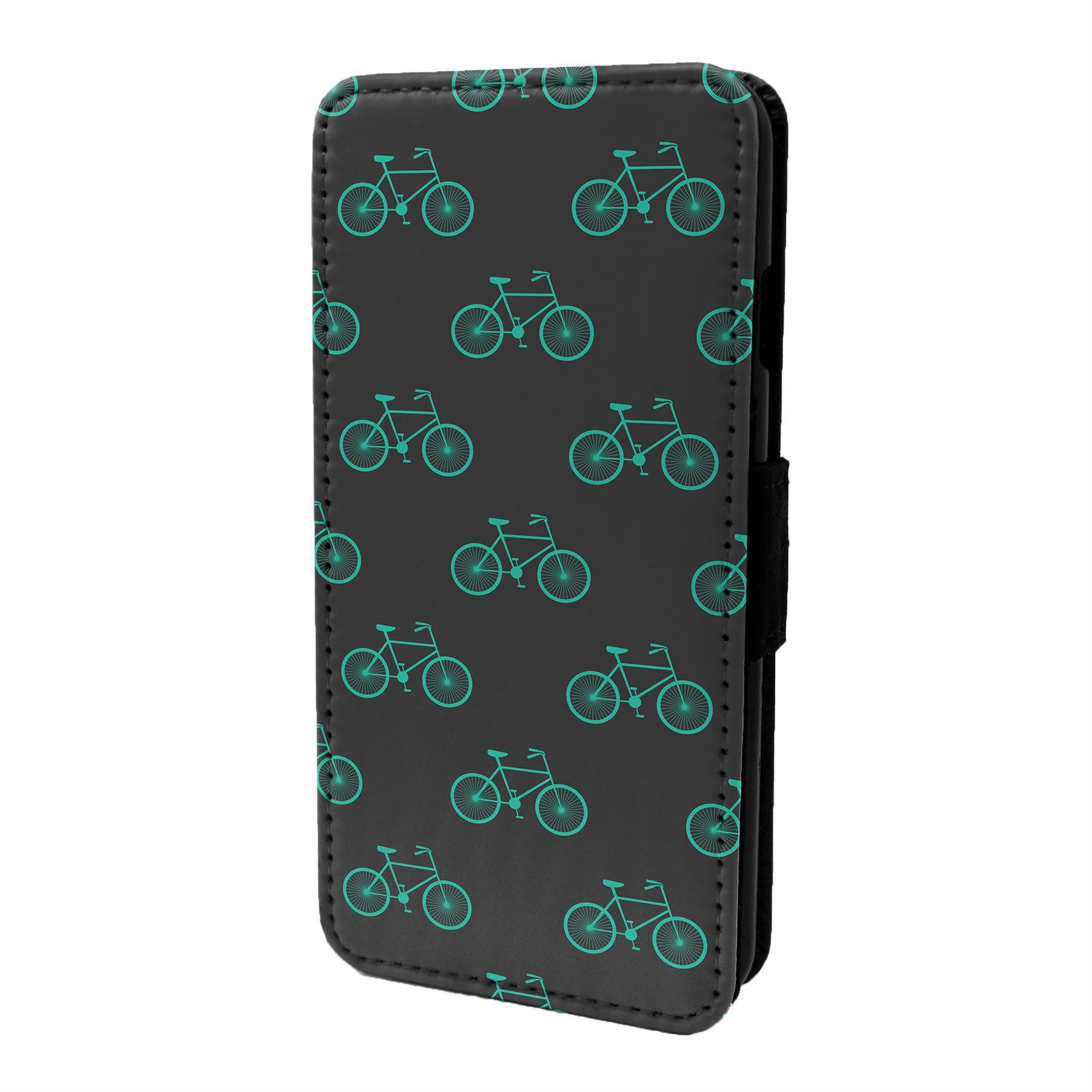 Velo-Cyclisme-Motif-Etui-Rabattable-pour-Telephone-Portable-S6636