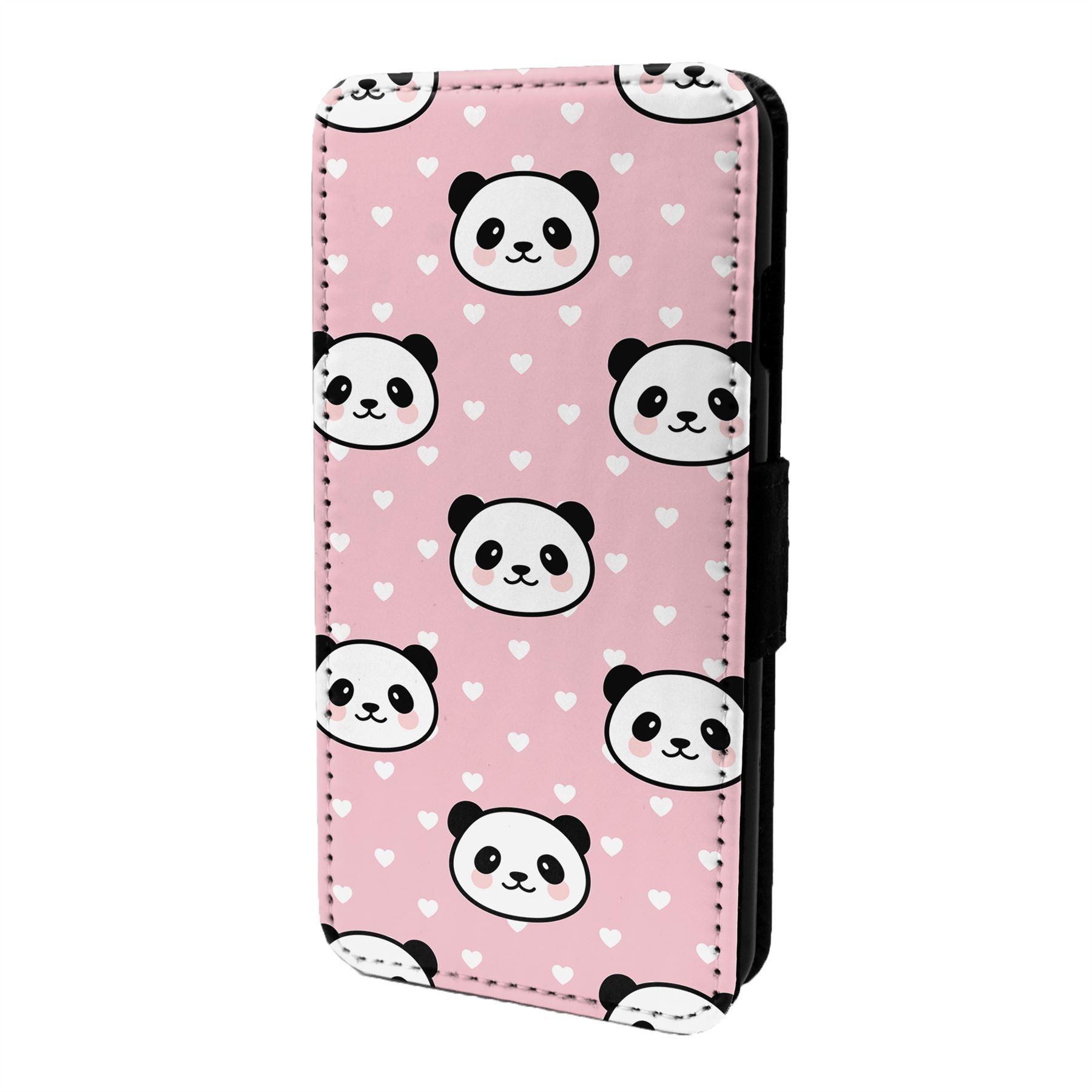 Panda-Motif-Etui-Rabattable-pour-Telephone-Portable-S7006