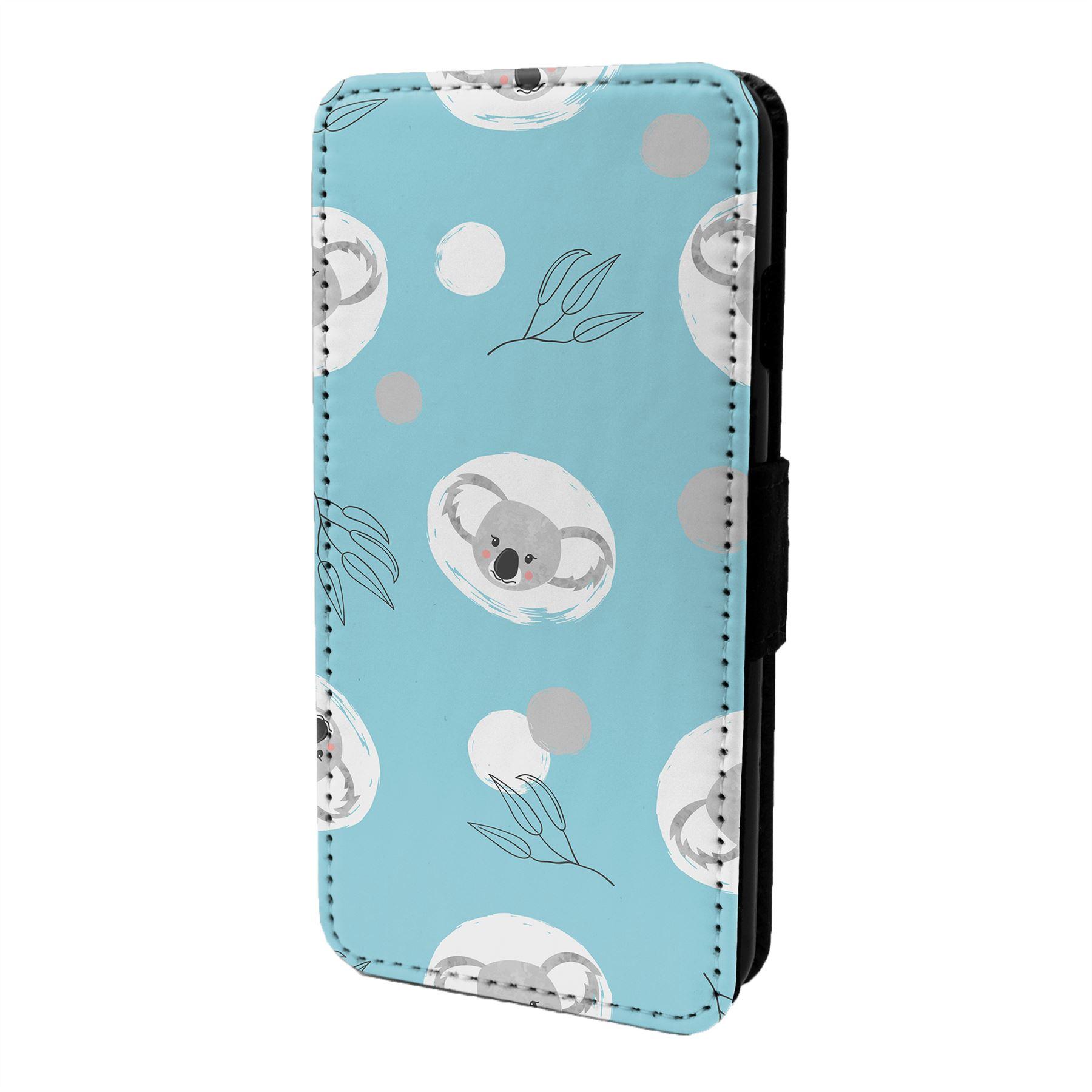 Koala-Motif-Etui-Rabattable-pour-Telephone-Portable-S6822