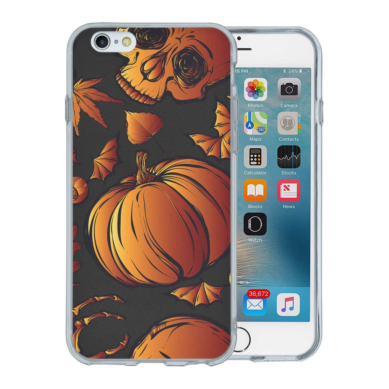 miniatura 7 - Cubierta posterior de silicona teléfono caso patrón-S4021 Calabaza de Halloween