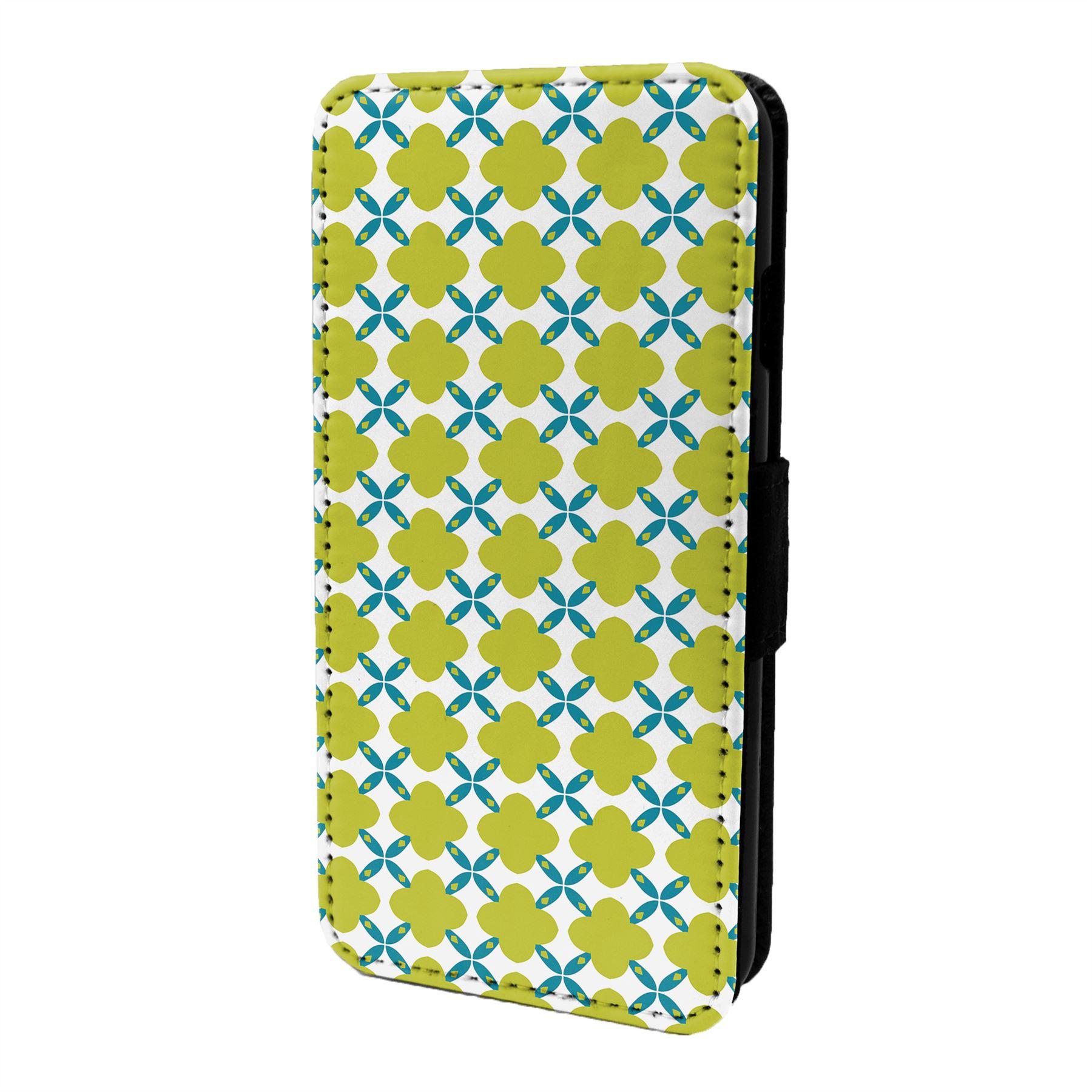 Vintage-Patron-Geometrico-Funda-Libro-para-Telefono-Movil-S7153
