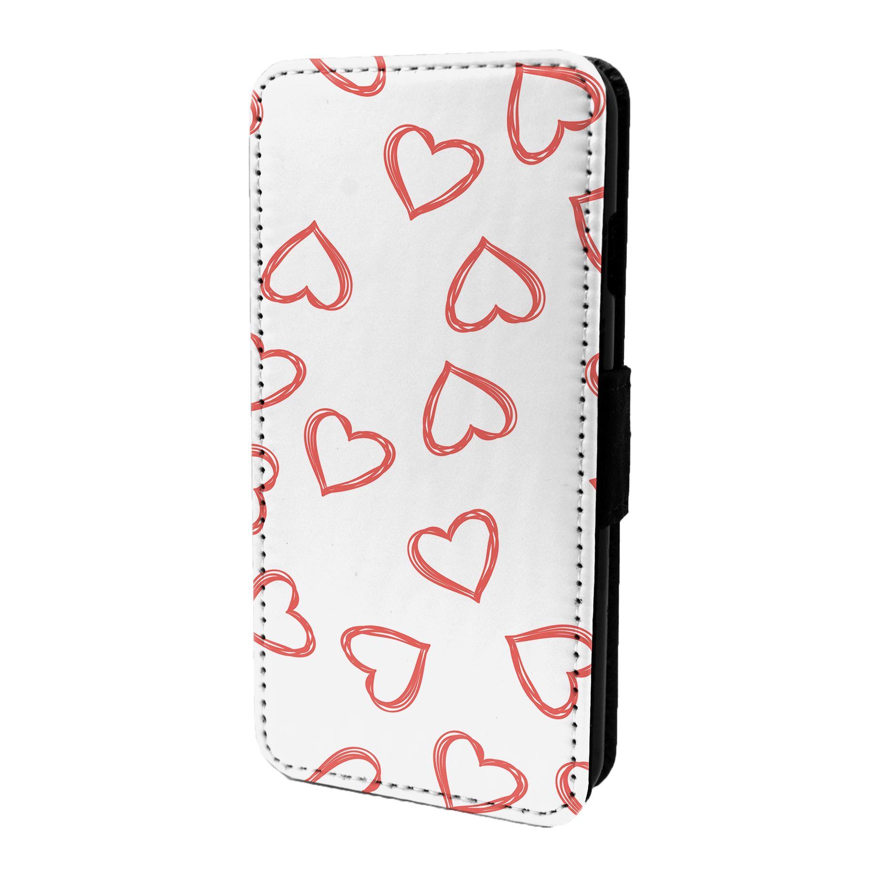 Coeur-D-039-Amour-Motif-Etui-Rabattable-pour-Telephone-Portable-S6844