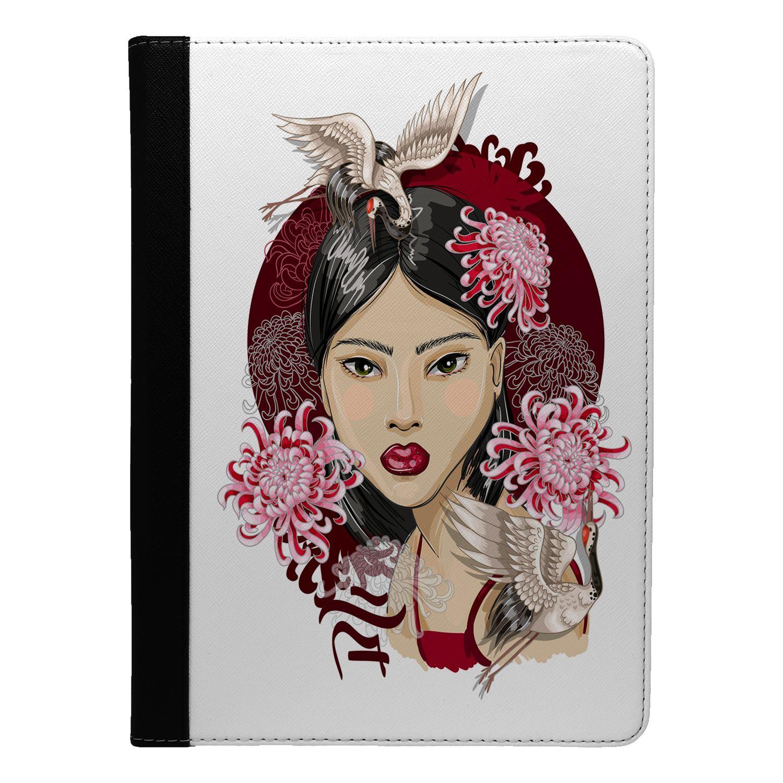 Japanese-Geisha-Girl-Print-Flip-Case-Cover-For-Apple-iPad-S8723