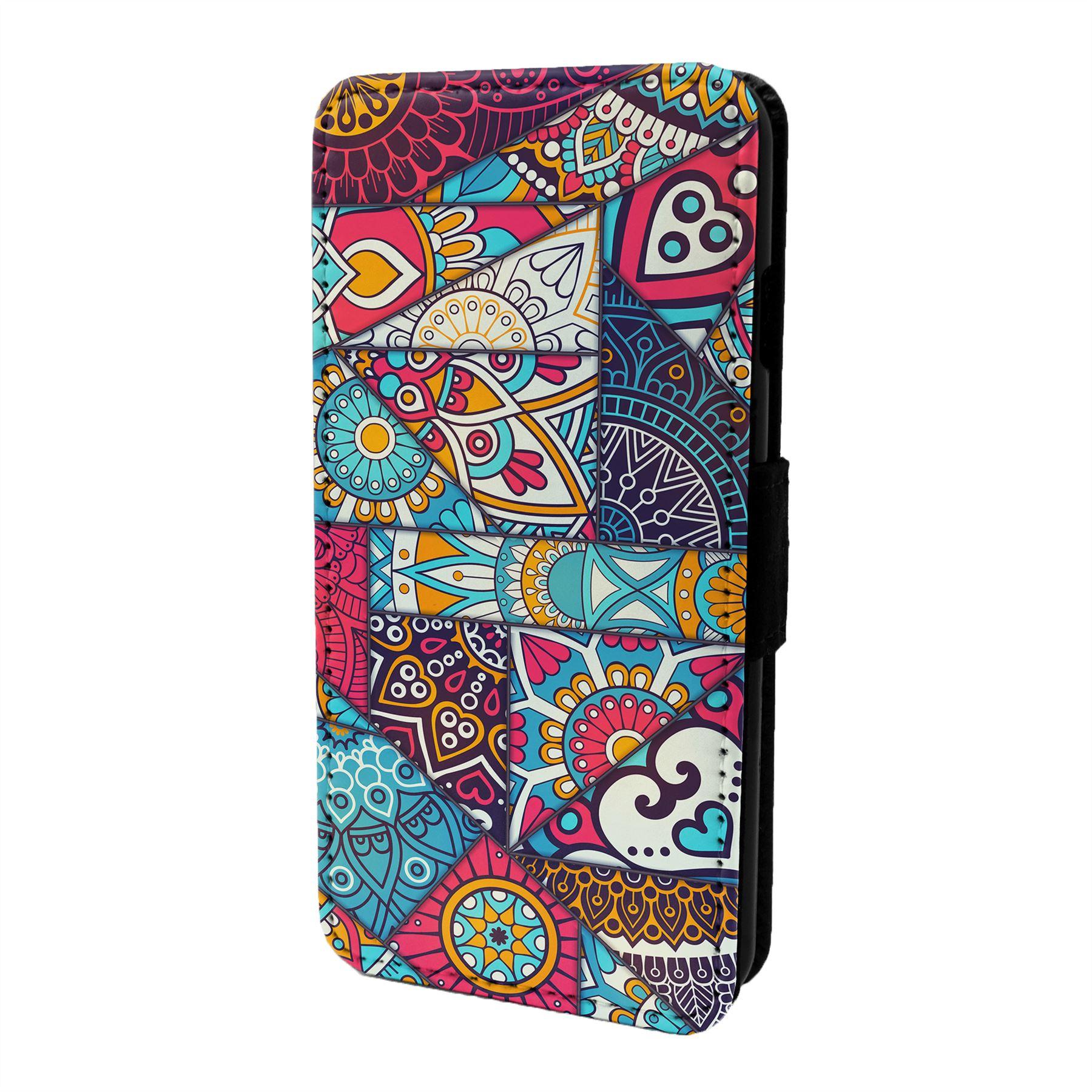 Mandala-Marroqui-Estampado-Funda-Libro-para-Telefono-Movil-S6893
