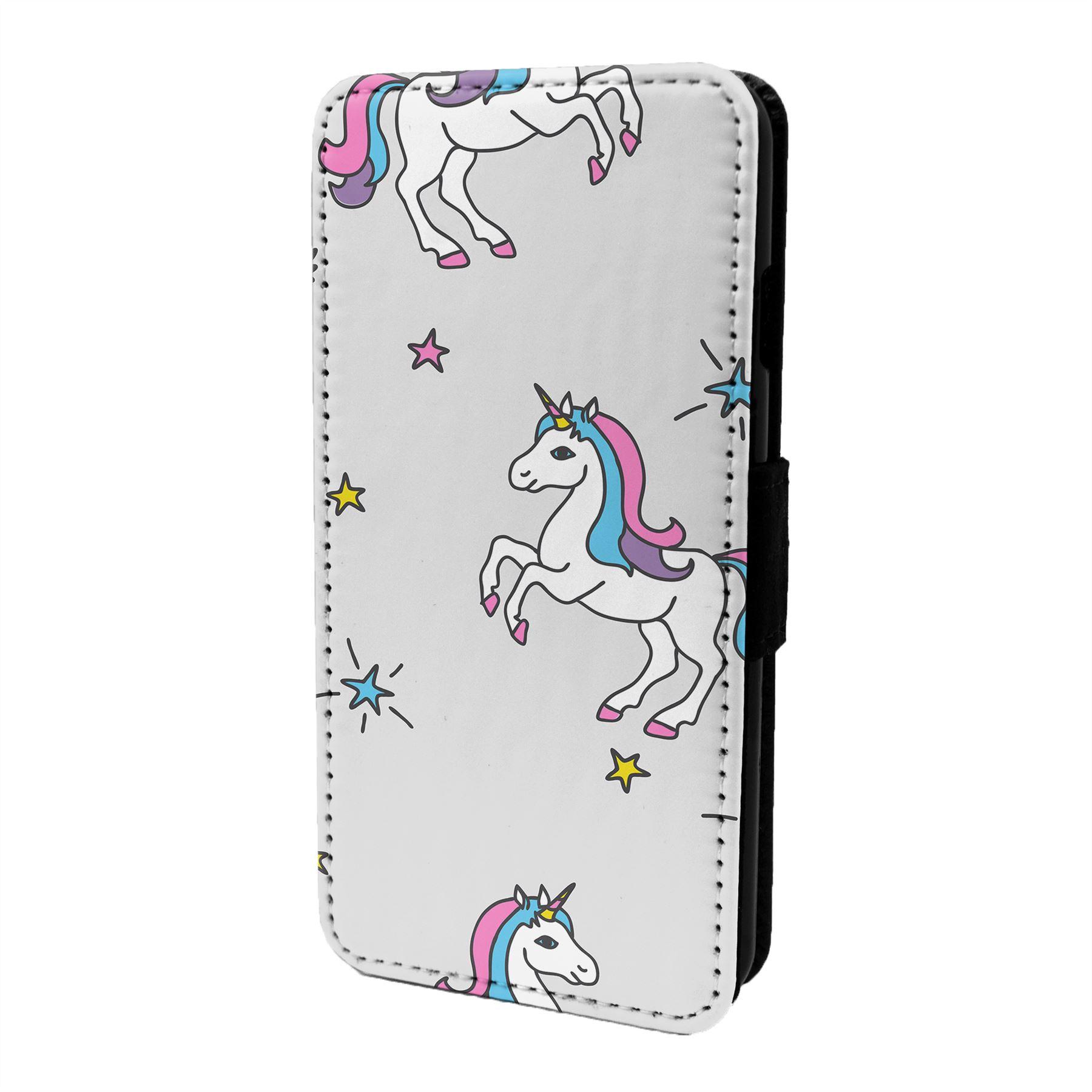 Fantasia-Unicornio-Estampado-Funda-Libro-para-Telefono-Movil-S6673