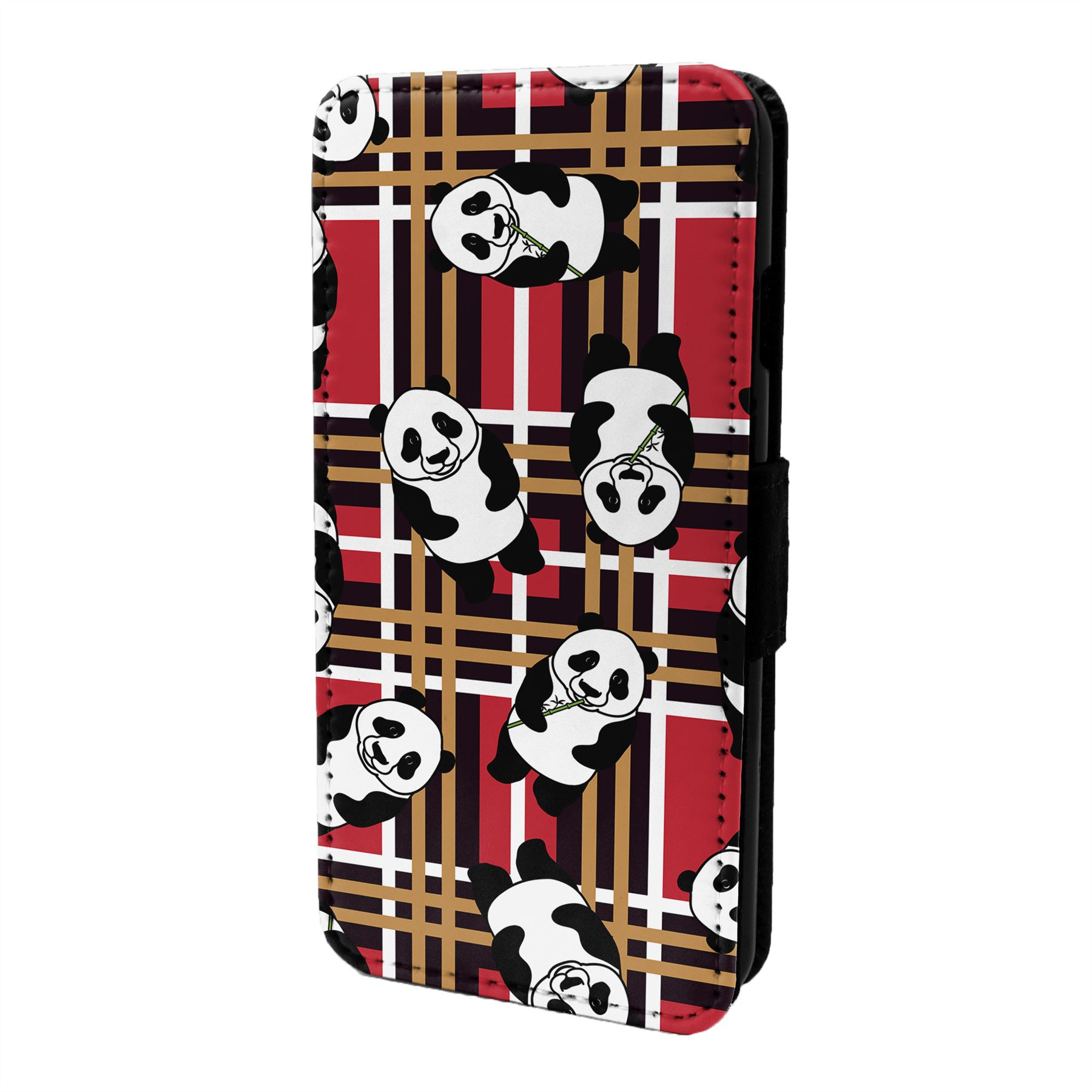 Panda-Motif-Etui-Rabattable-pour-Telephone-Portable-S6999
