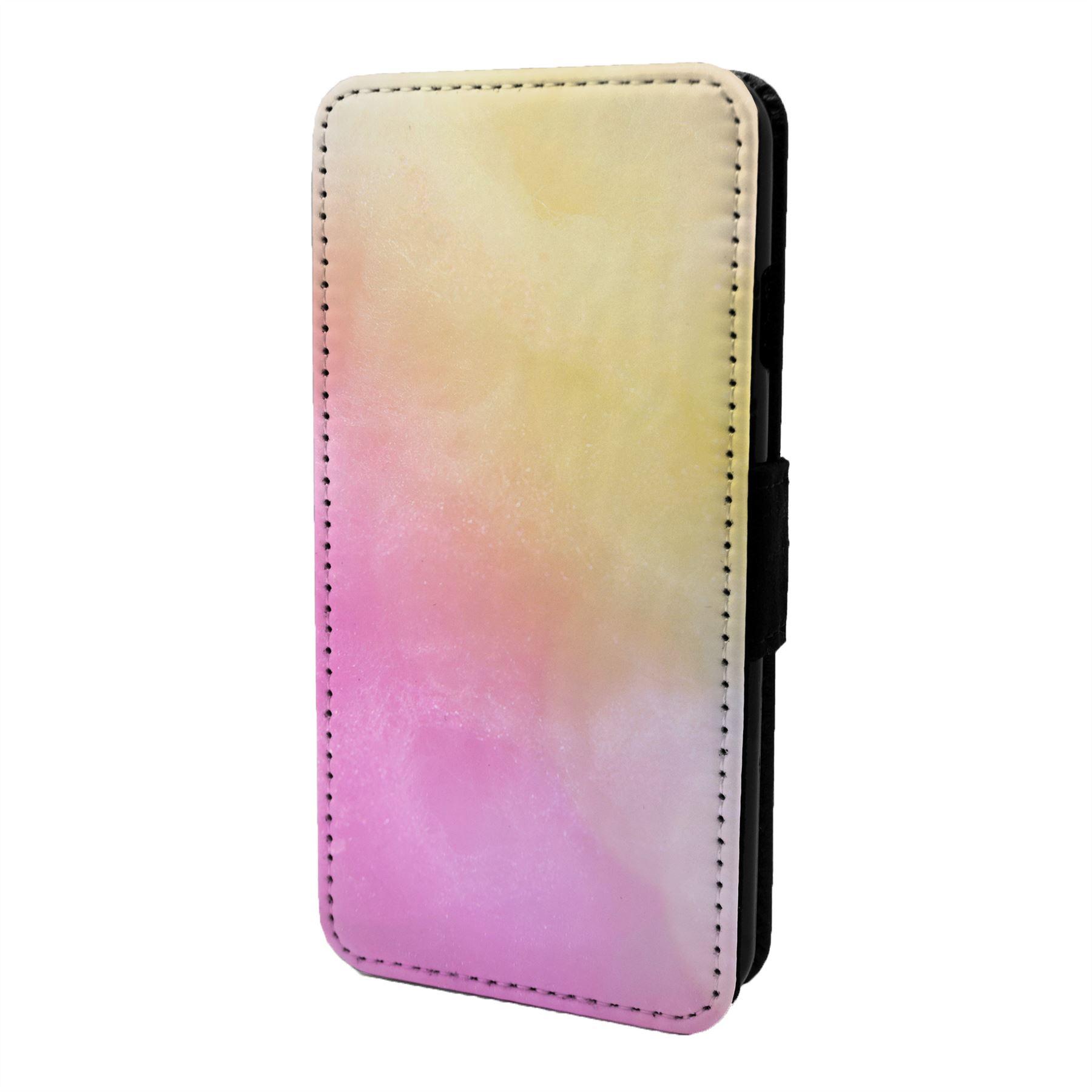 Pastel-Motif-Etui-Rabattable-pour-Telephone-Portable-S7037